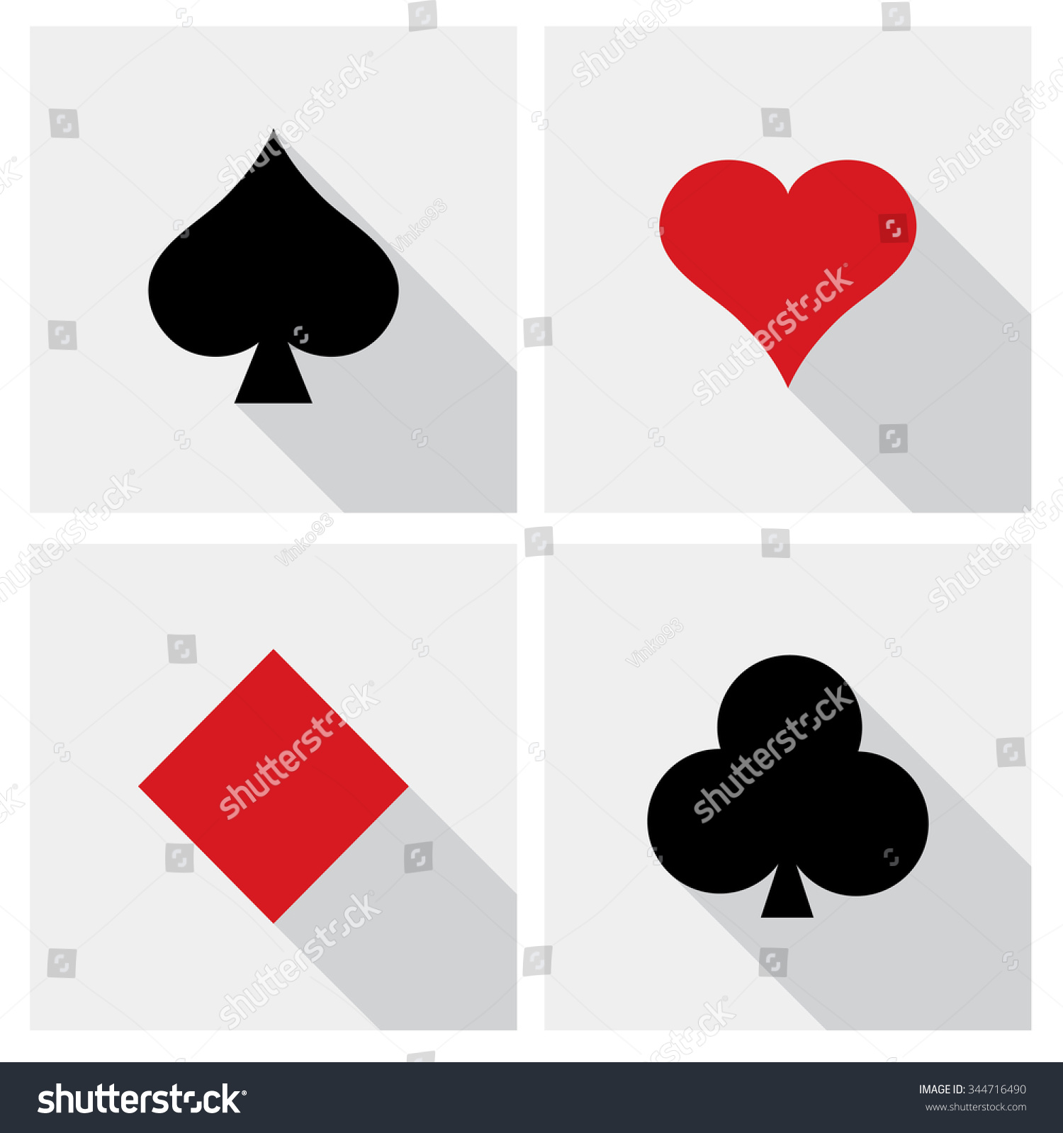Vector playing cards symbols stock vector 344716490 shutterstock vector playing cards symbols biocorpaavc