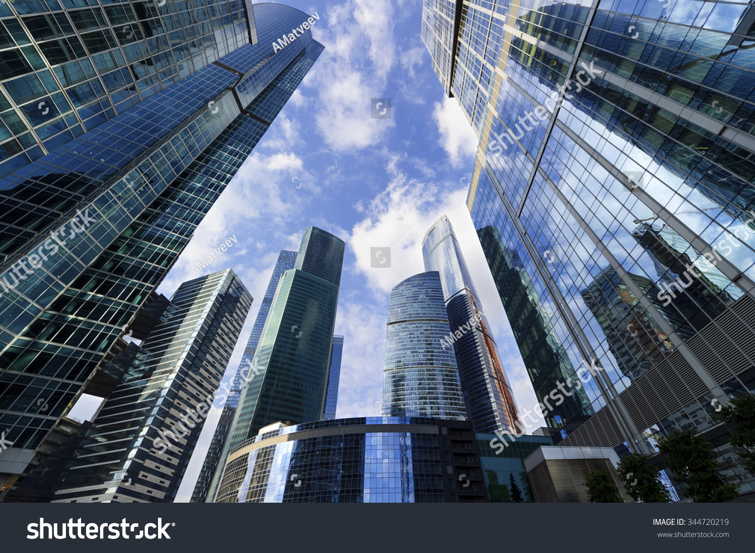 business office skyscrapers looking highrise buildings stock photo 344720219 shutterstock. Black Bedroom Furniture Sets. Home Design Ideas