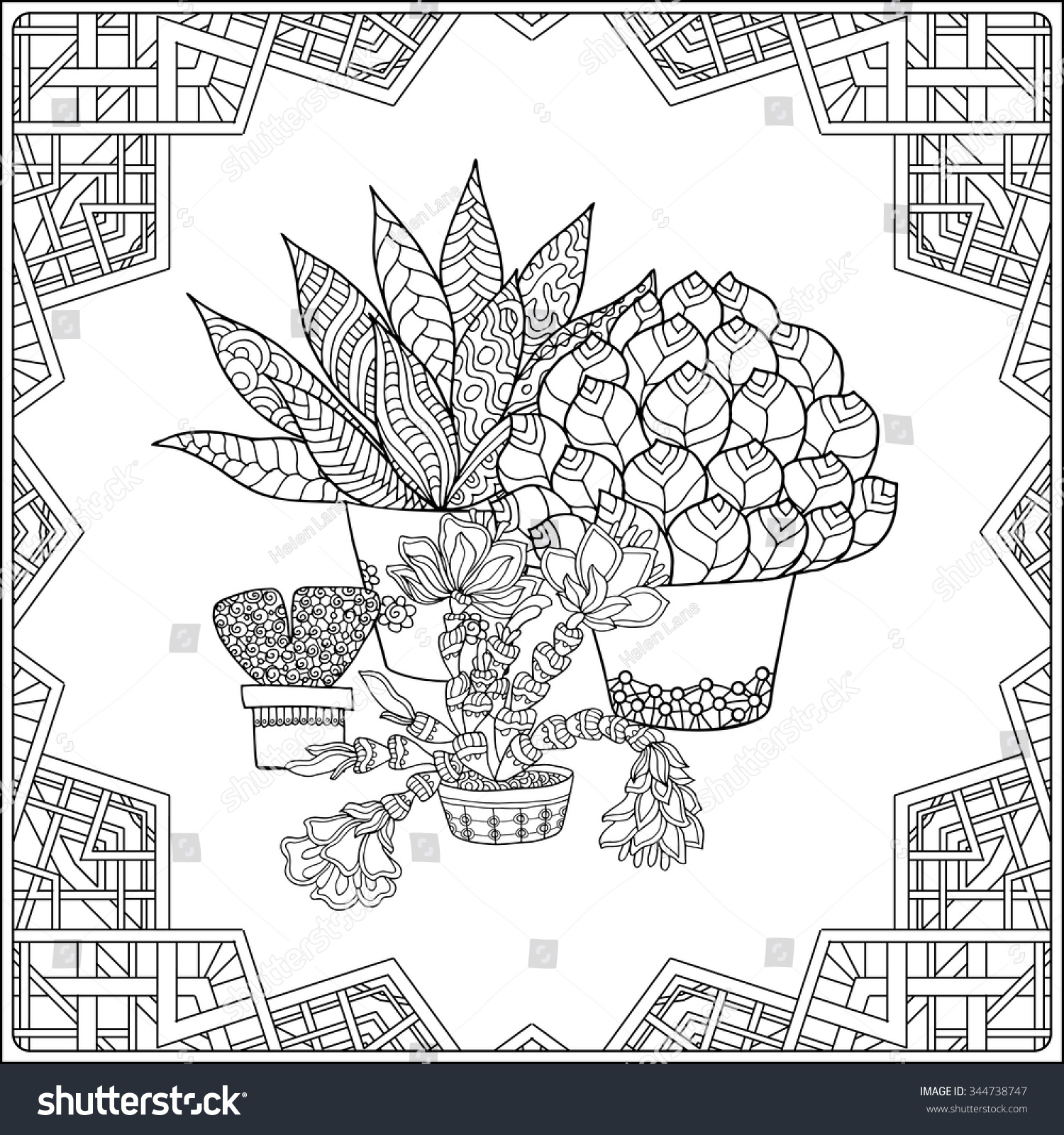Coloring Book Adult Older Children Coloring Stock Vector HD Royalty