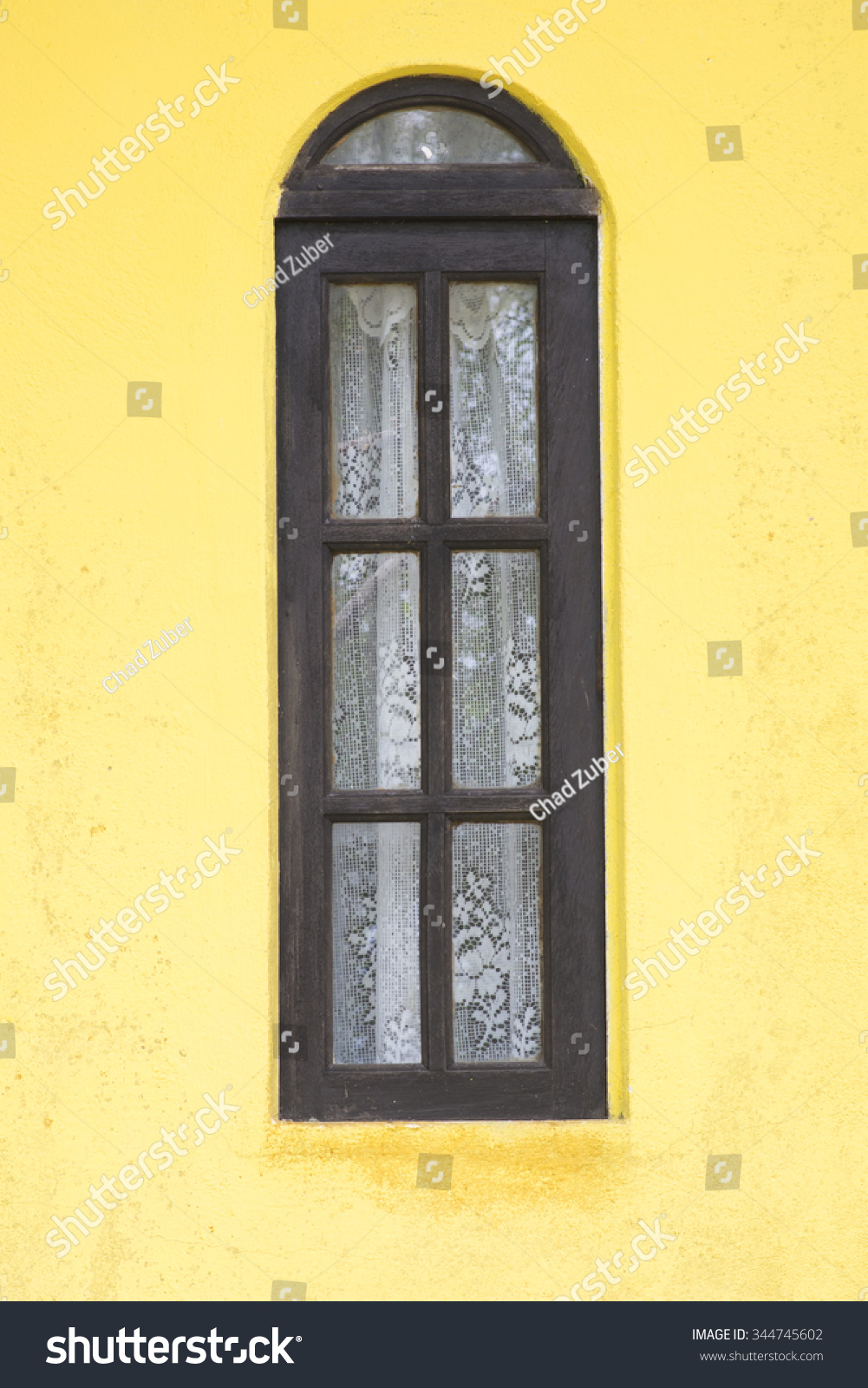 Exterior Tall Wooden Rustic Window Glass Stock Photo (Royalty Free ...