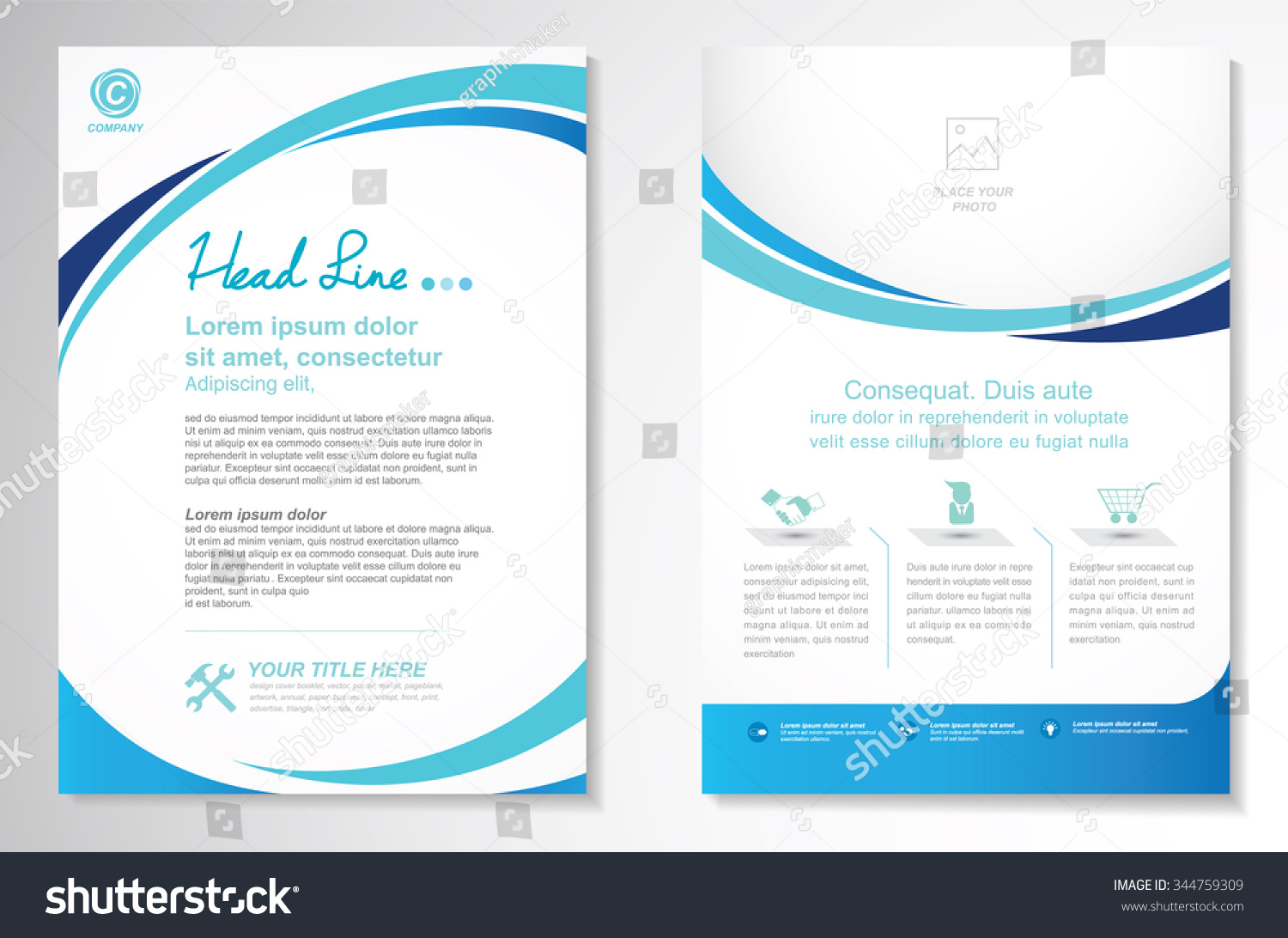 Brochure template layout cover design annual report magazine flyer - Vector Brochure Flyer Design Layout Template Stock Vector