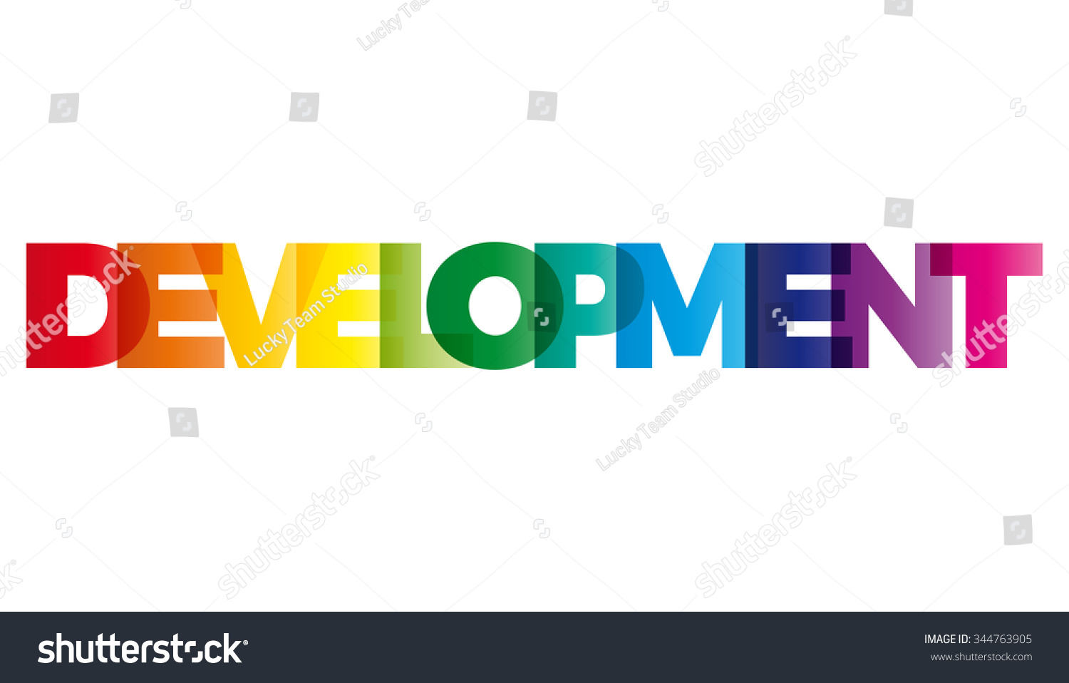 word development vector banner text colored stock vector royalty