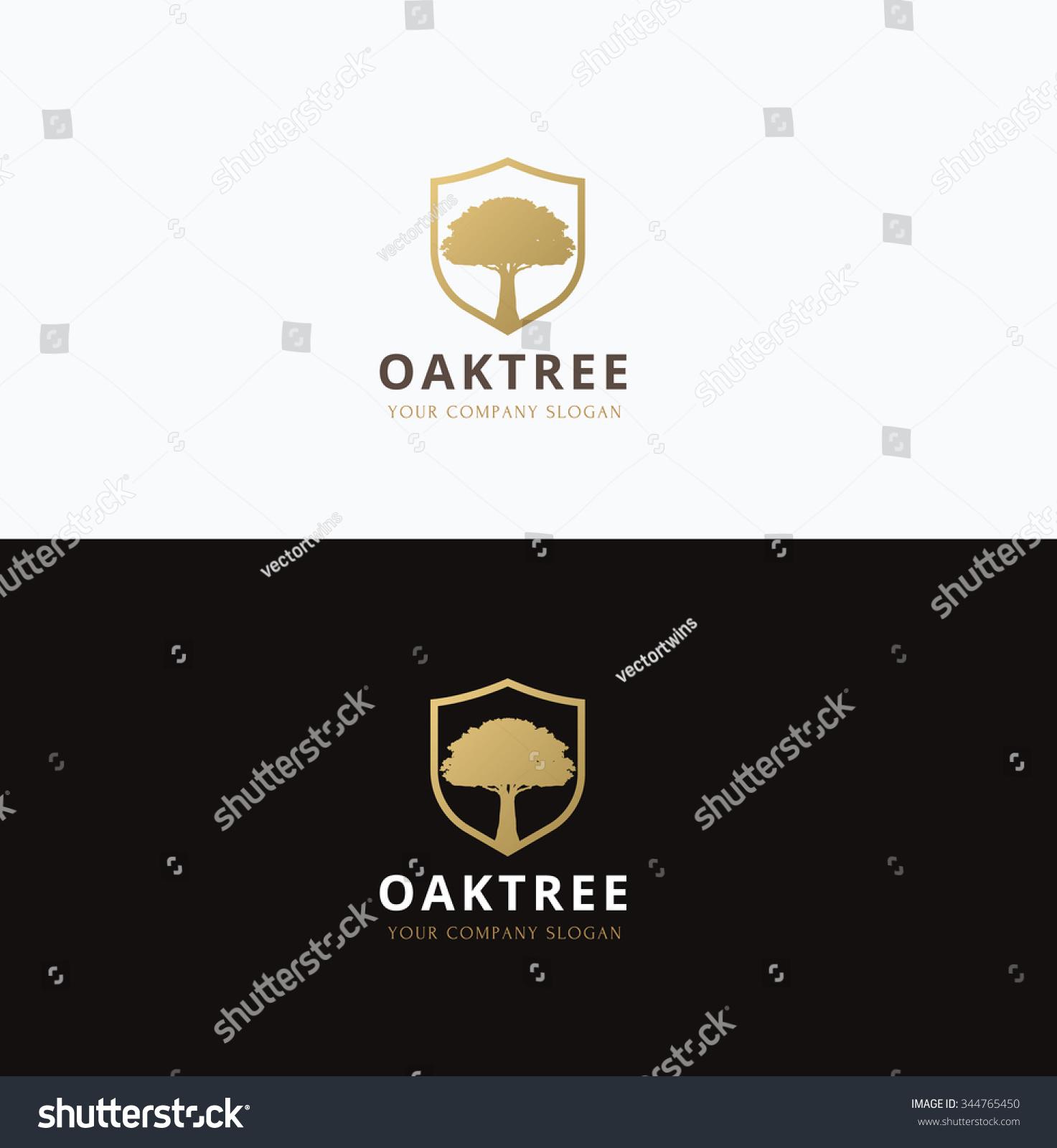 Oak Tree Logovector Logo Template Stock Vector 344765450 ...