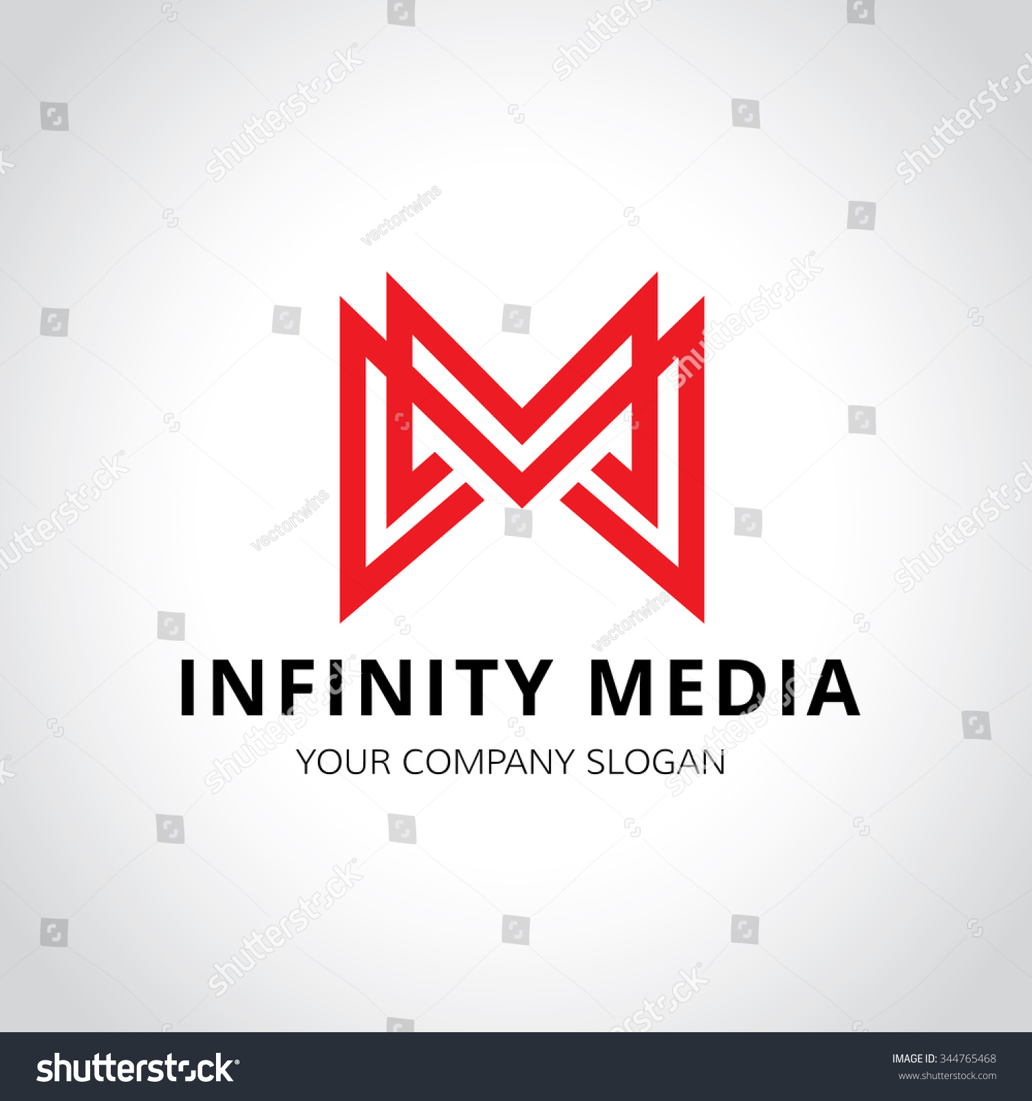 Infinity Media M Letter Vector Logo Stock Vector (Royalty Free ...