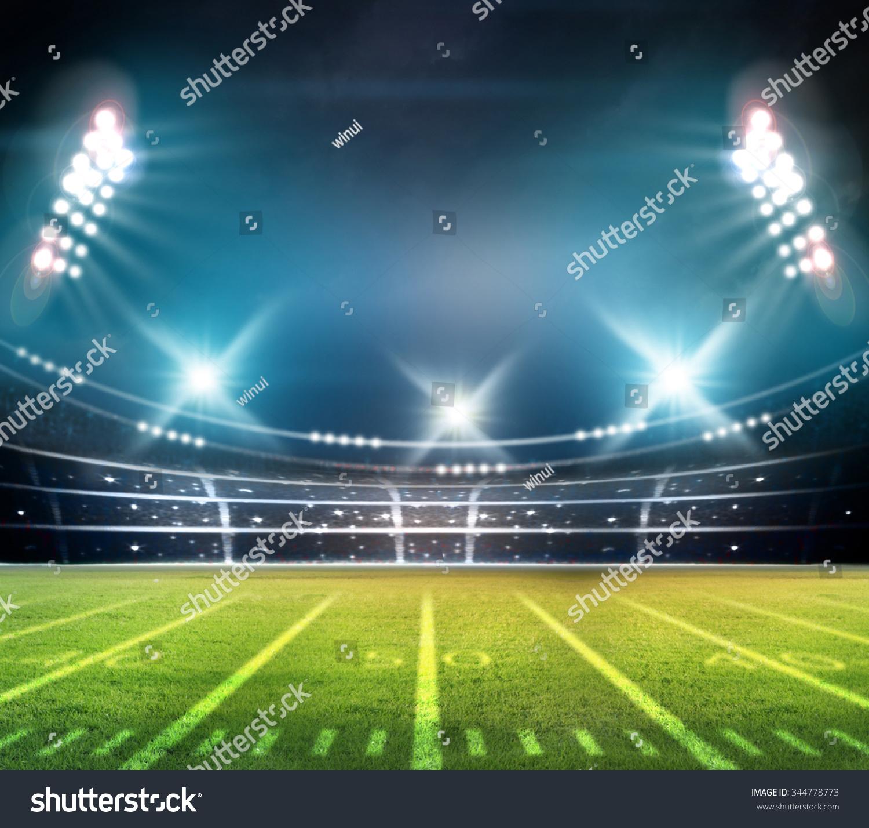 Stadium Of Lights: Light Stadium Stock Photo 344778773