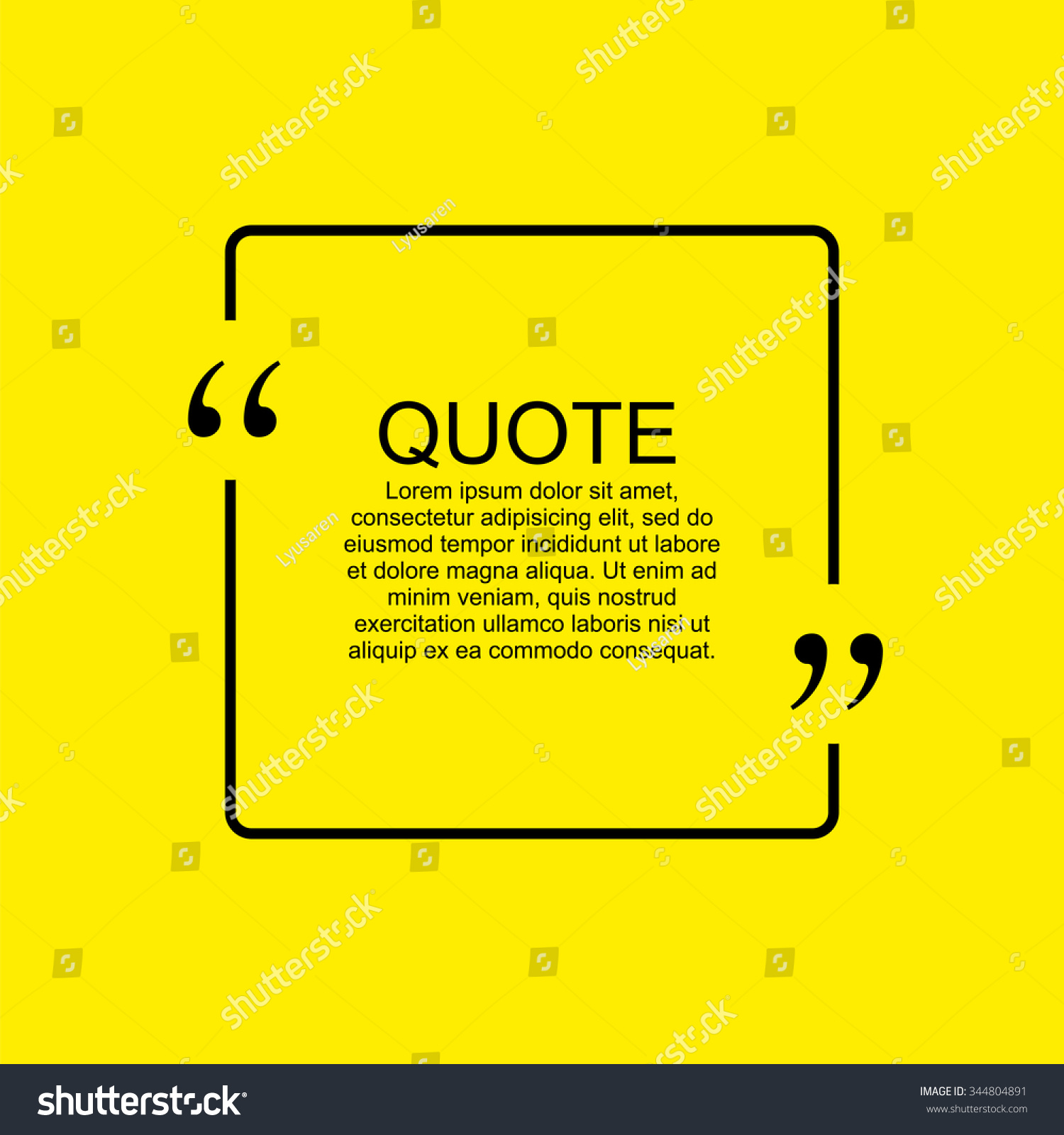quote blank template quote bubble empty stock vector 344804891 quote blank template quote bubble empty template square business card template paper