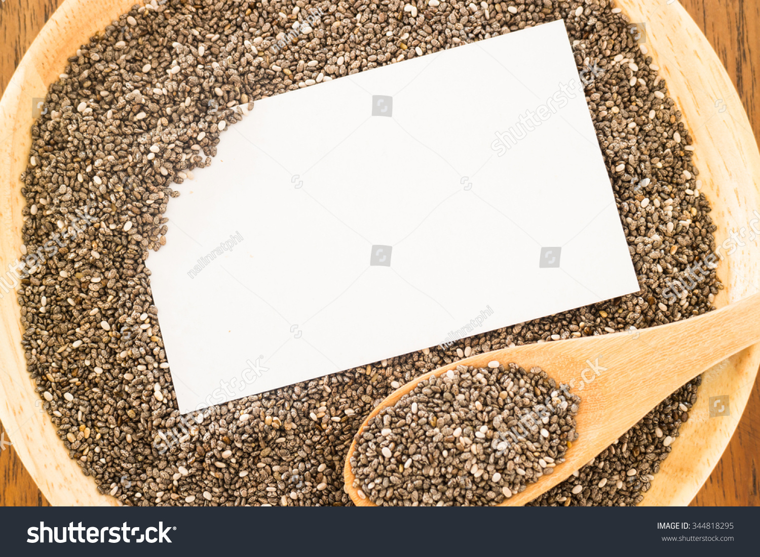 Nutritious Chia Seeds Business Card Stock Stock Photo (100% Legal ...