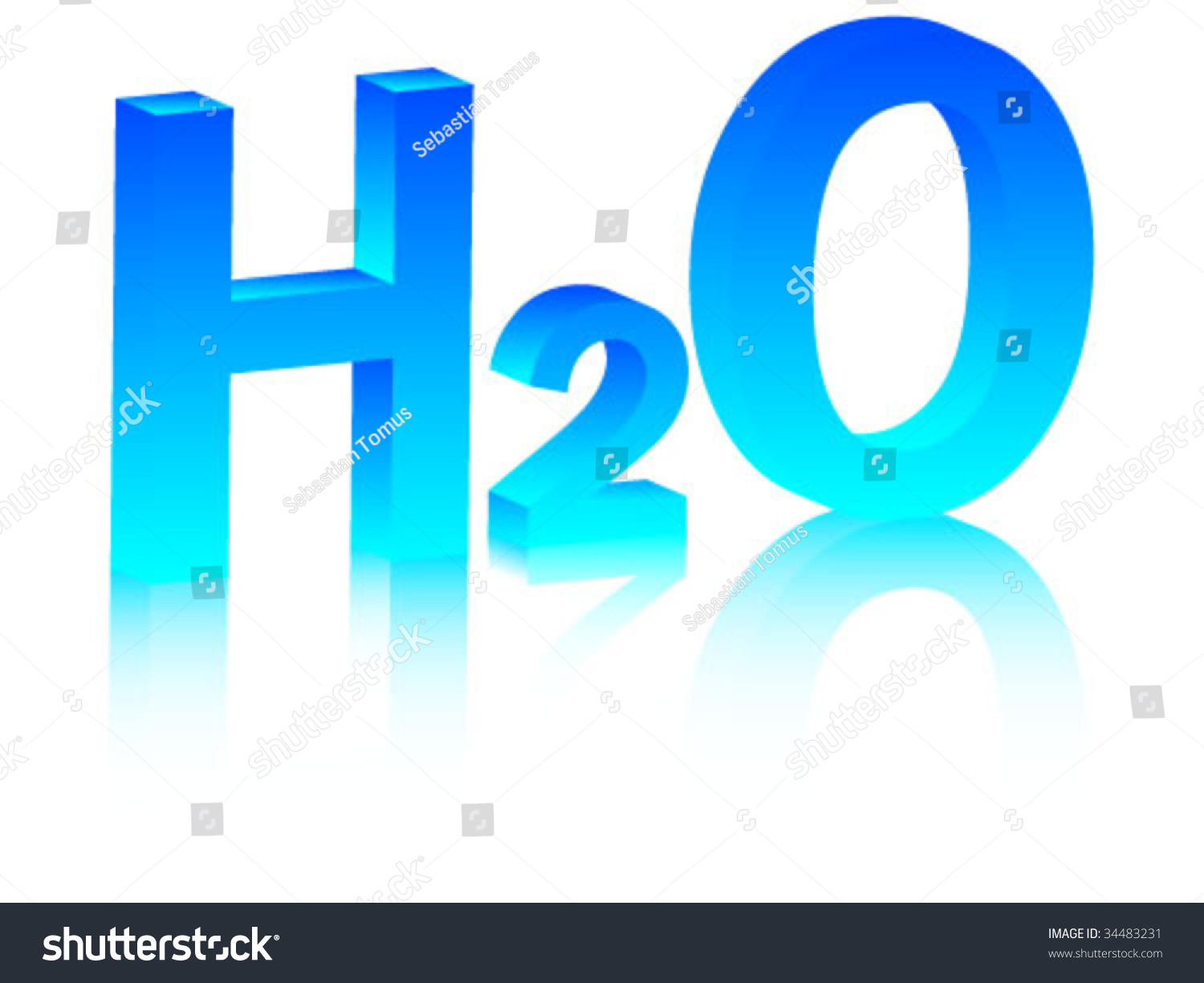 Chemical symbol water h2o vector illustration stock vector 34483231 chemical symbol of water h2o vector illustration buycottarizona Choice Image