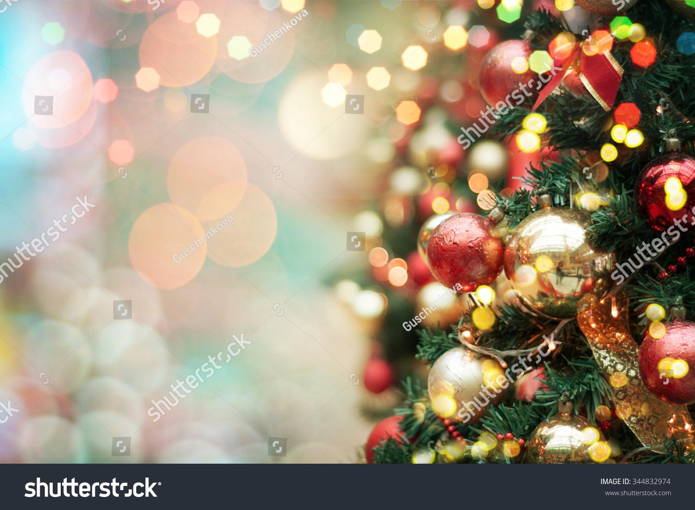 Decorated Christmas Tree Stock Photo 344832974 : Shutterstock
