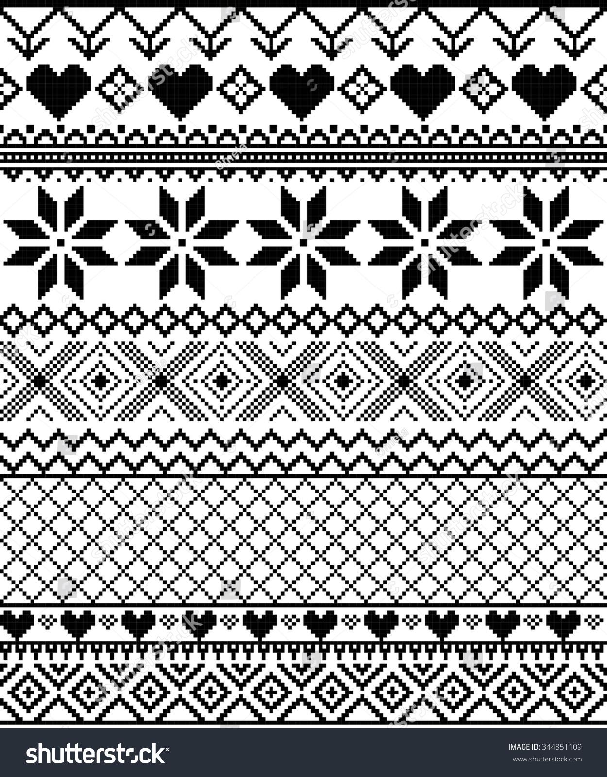 Vector Pixel Seamless Texture Nordic Monochrome Vector de stock ...
