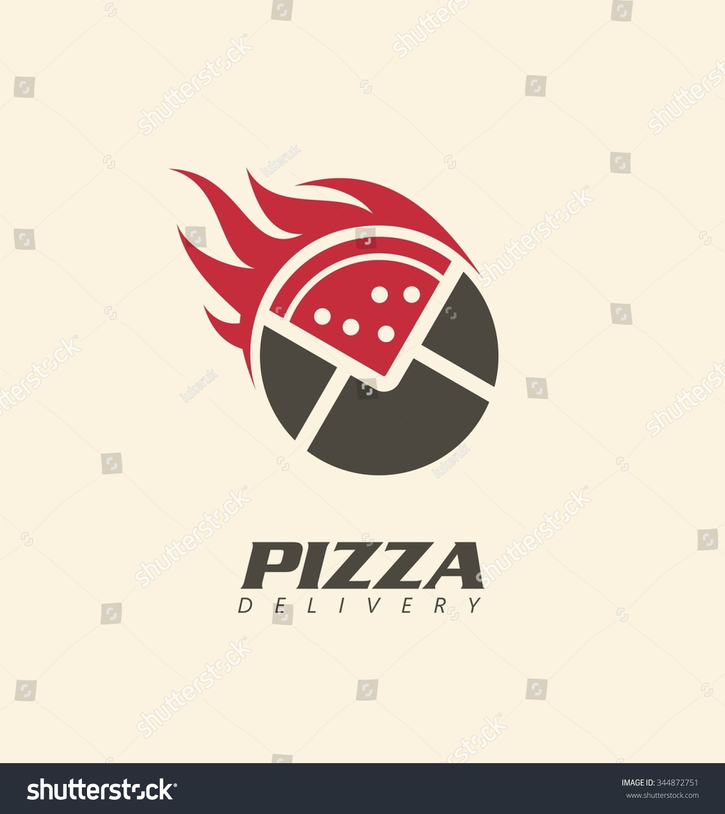 creative symbol concept pizza delivery logo stock vector
