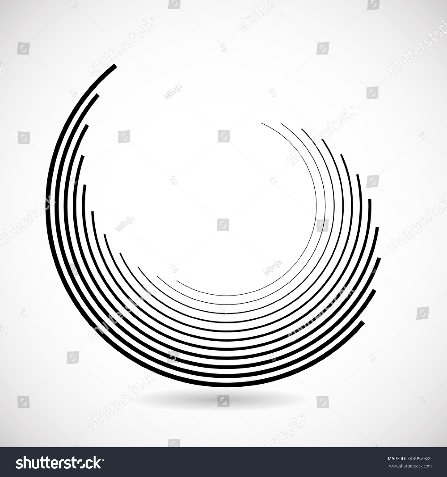 Technology Lines Circle Form Vector Illustration Stock Vector ...