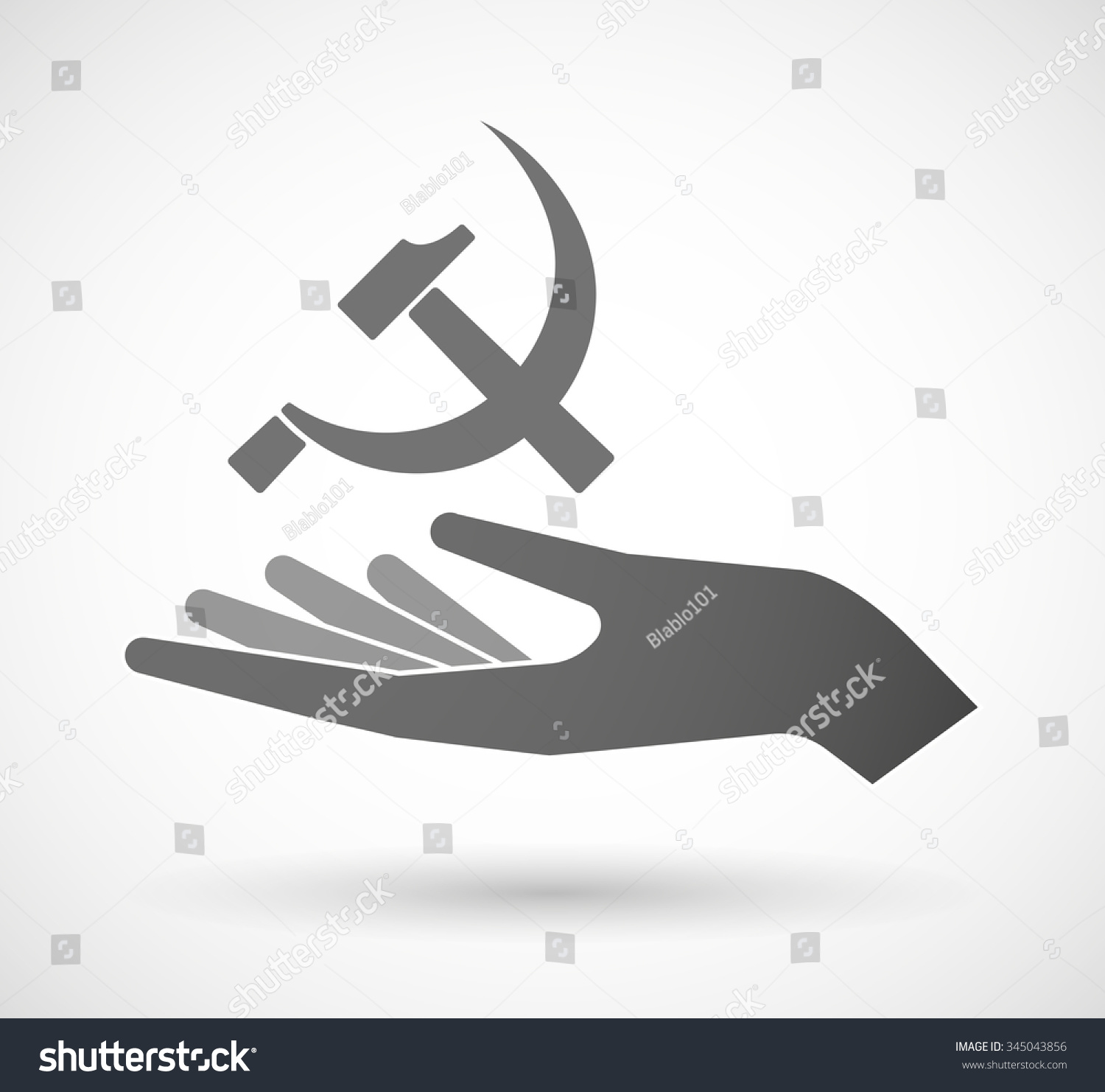 Illustration Isolated Vector Hand Giving Communist Stock Vector