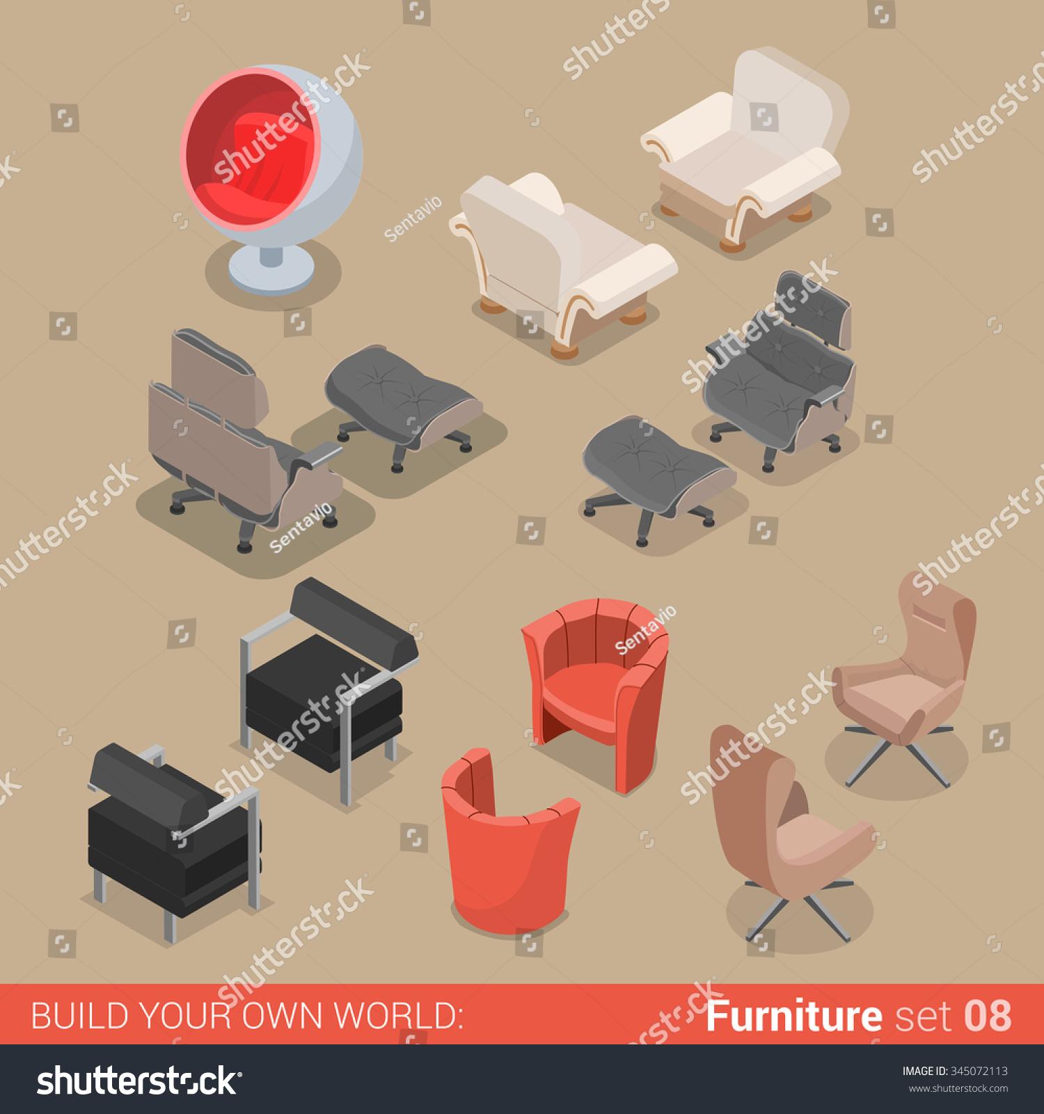 Home Living Room Lounge Furniture Set Stock-Vektorgrafik 345072113 ...