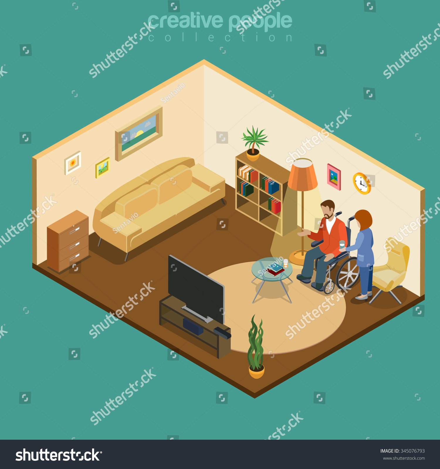 Disabled handicapped cripple invalid home wheelchair for Home for handicapped