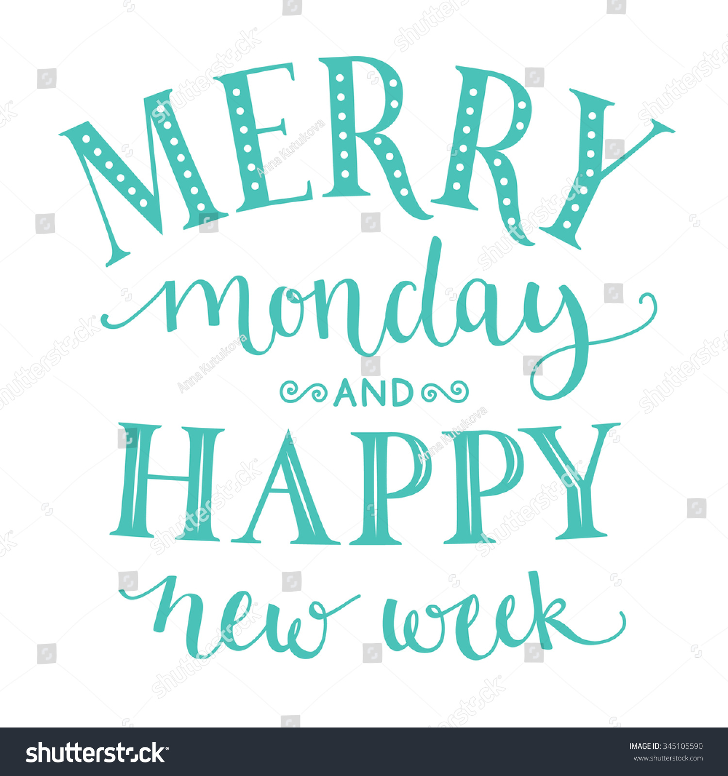 New Week Quotes Merry Monday Happy New Week Inspirational Stock Illustration  New Week Quotes
