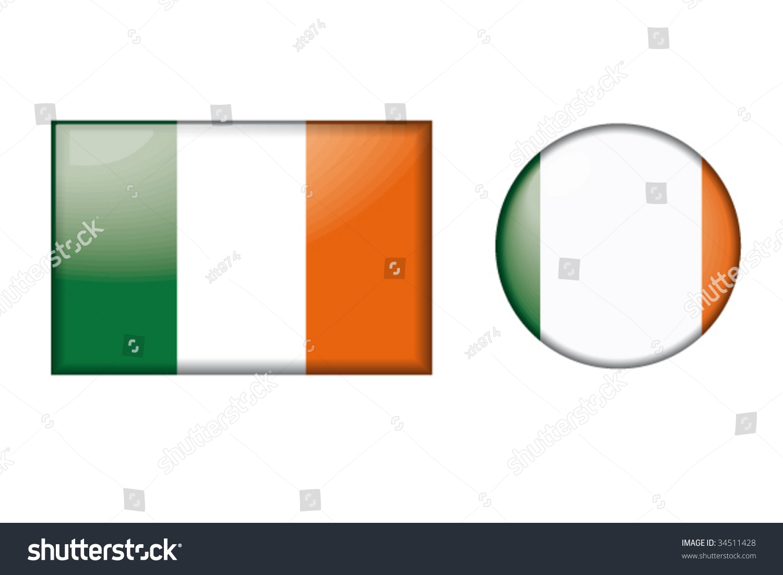 flag ireland stock vector 34511428 shutterstock