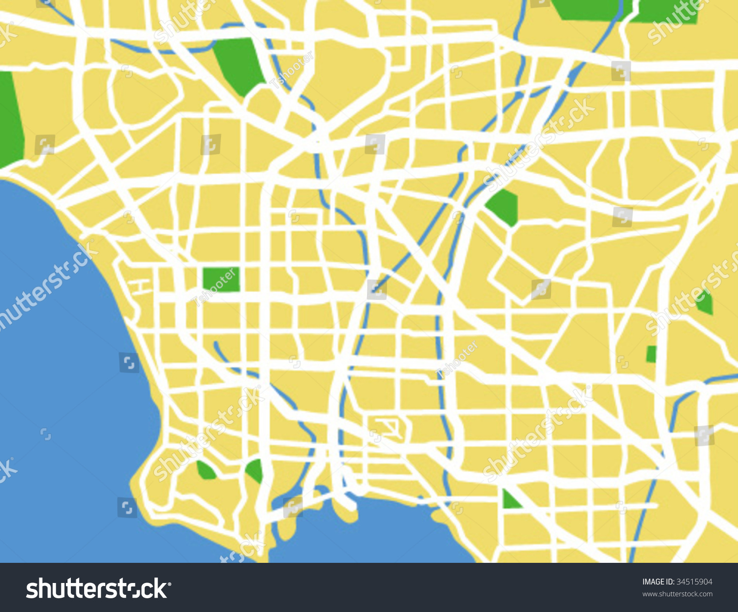 Los Angeles Vector Map Vector Get Free Images About World Maps - Los angeles in map