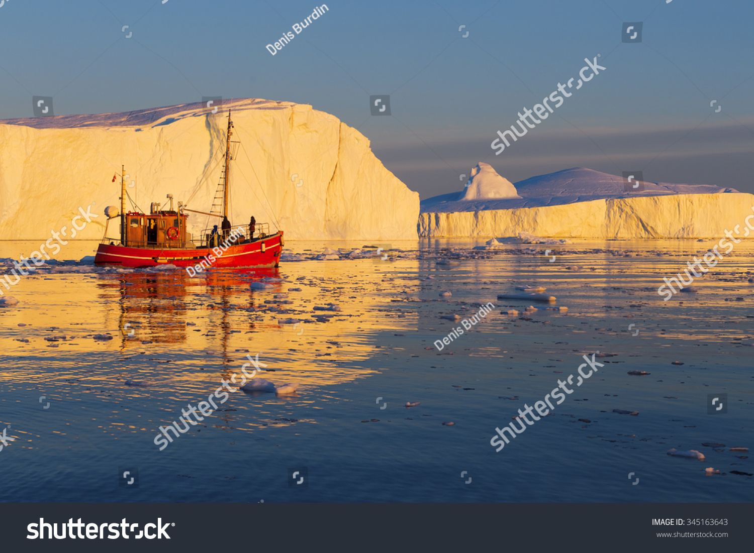 Nature and landscapes of Greenland Travel on the scientific vessel among ices Studying of a phenomenon of global warming Ices and icebergs of unusual forms and colors