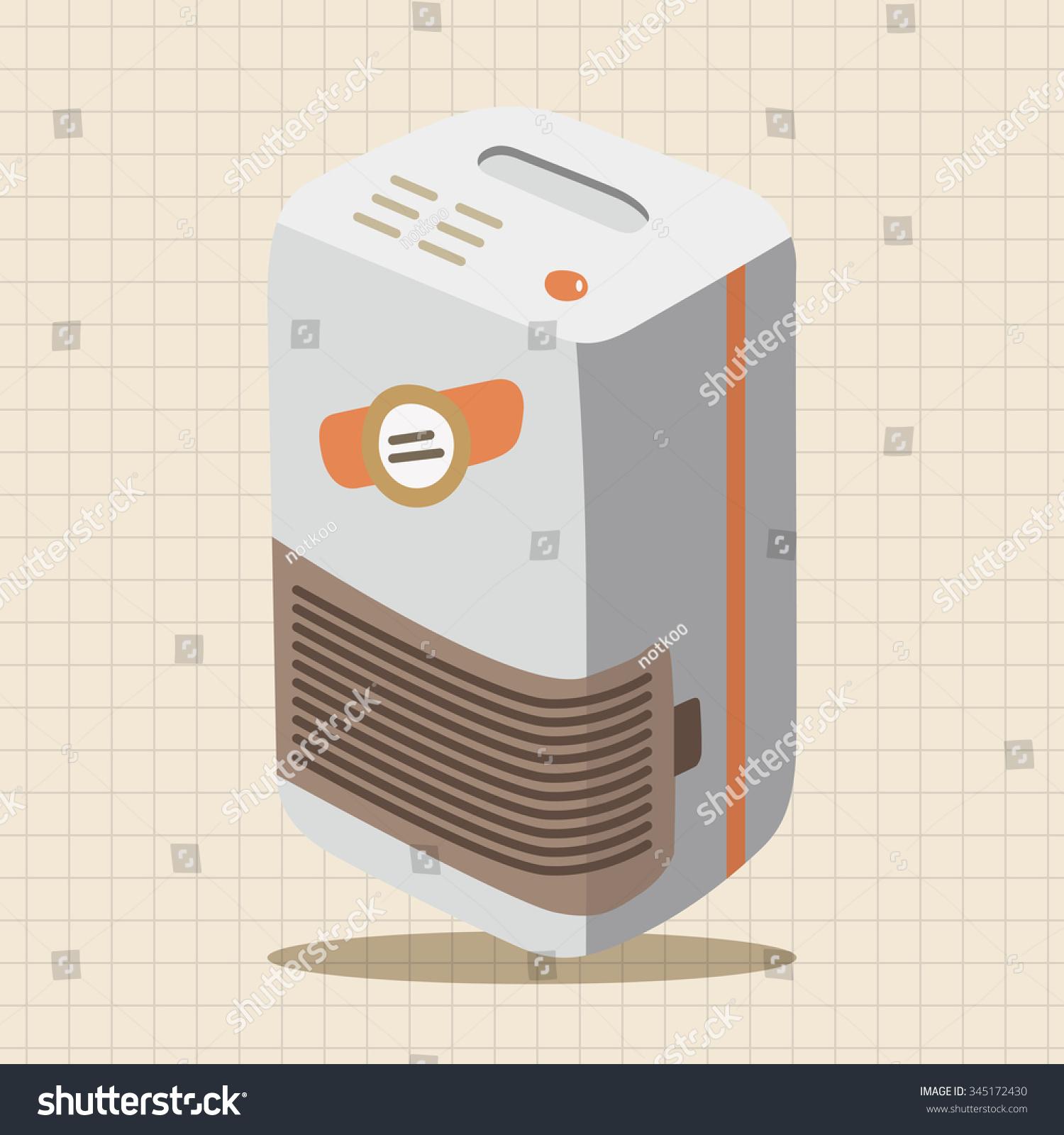 Dehumidifiers Theme Elements Stock Vector Illustration 345172430  #A75024