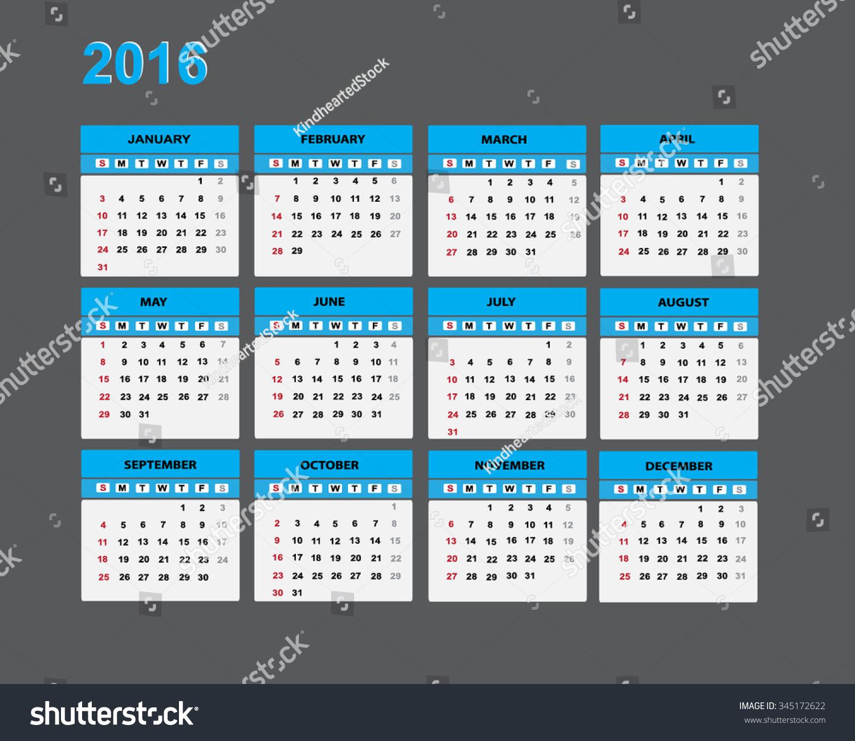 Calendar Illustrations : Calendar illustration stock vector