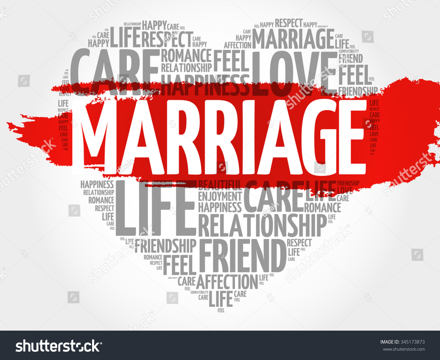 Marriage Concept Heart Word Cloud Stock Vector ...