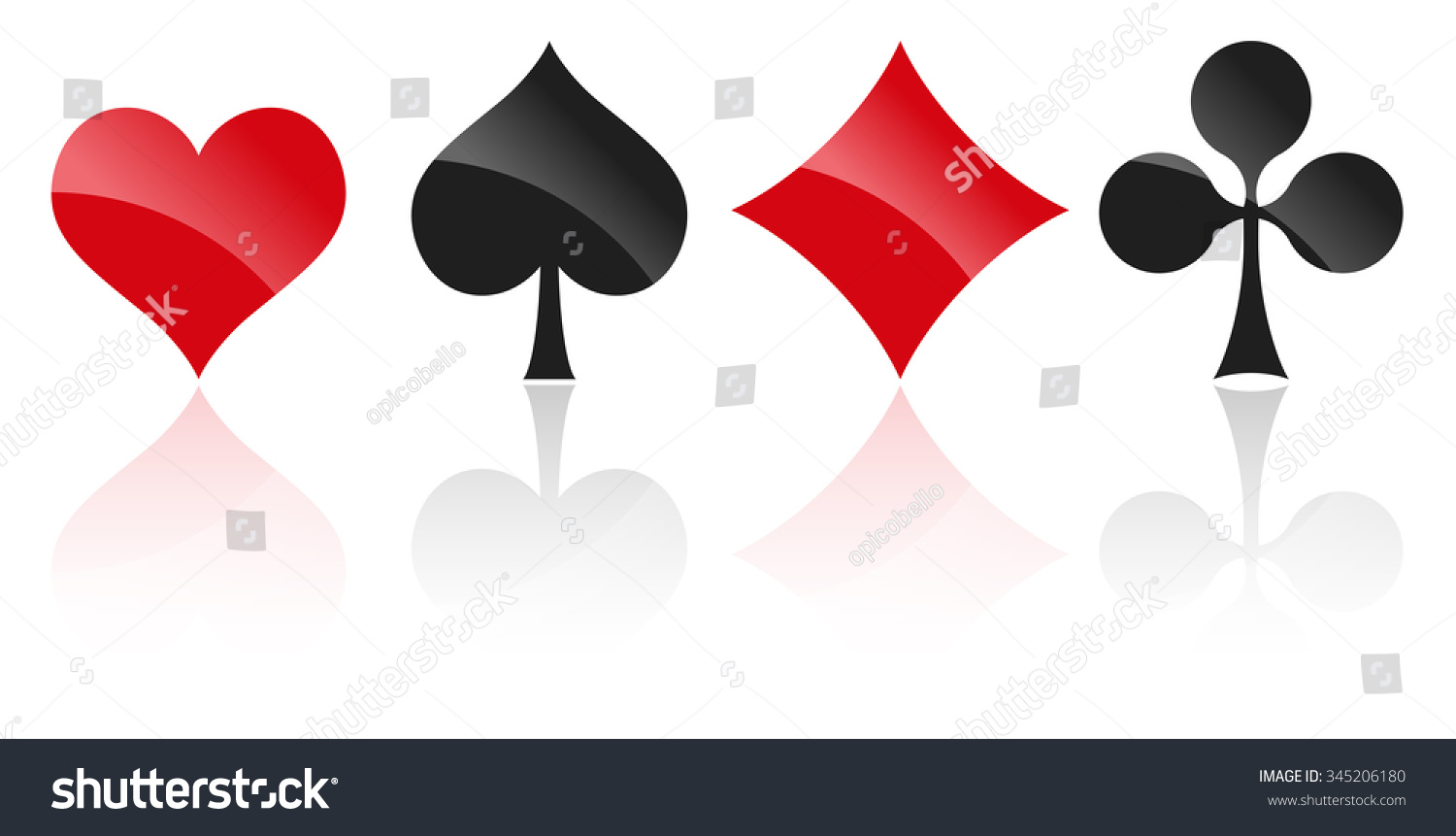 French playing cards symbols hearts tiles stock vector 345206180 french playing cards symbols hearts tiles clovers and pikes with reflection biocorpaavc