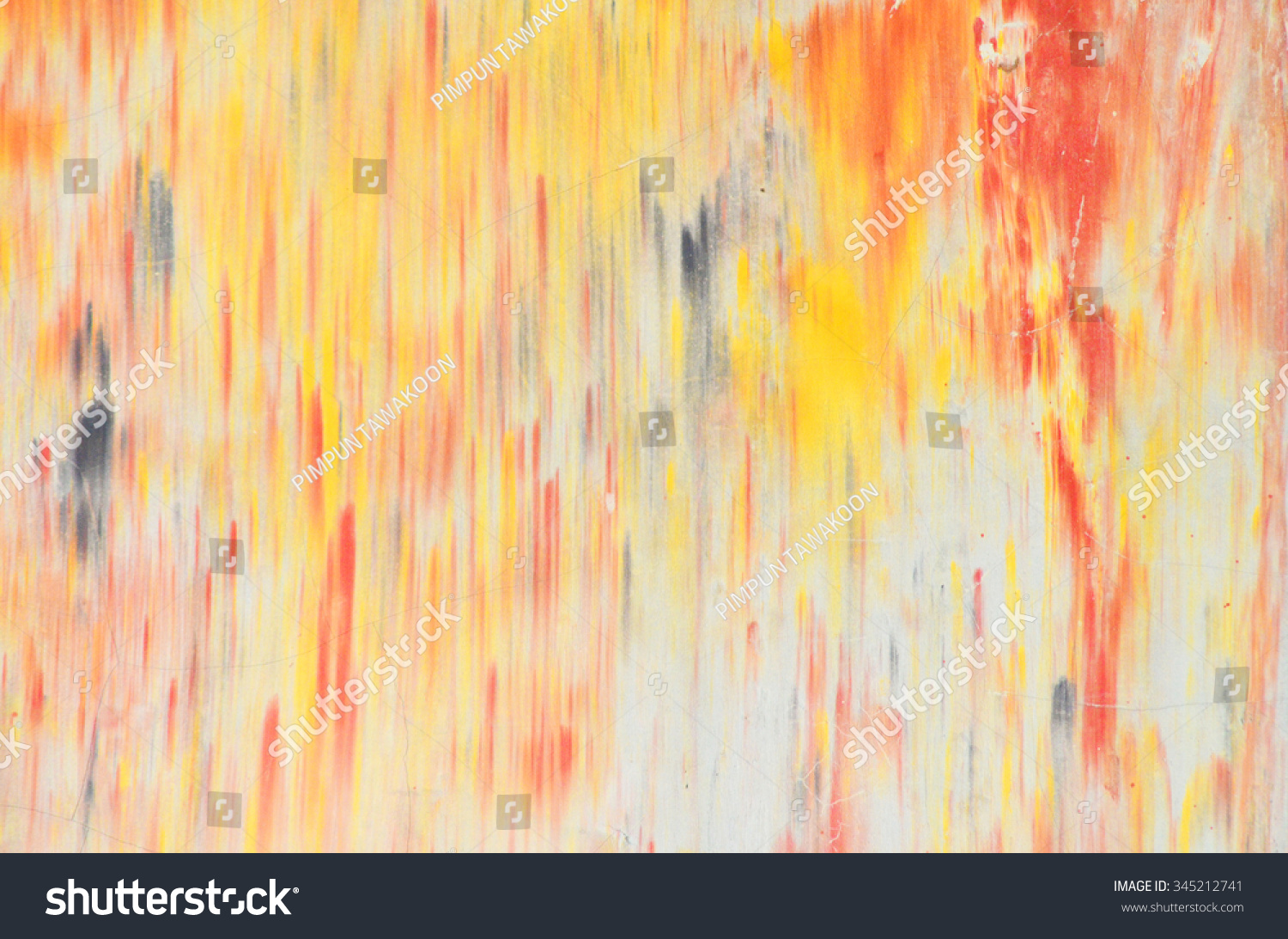 Color Splash Painting On Wall Stock Photo (Edit Now) 345212741 ...