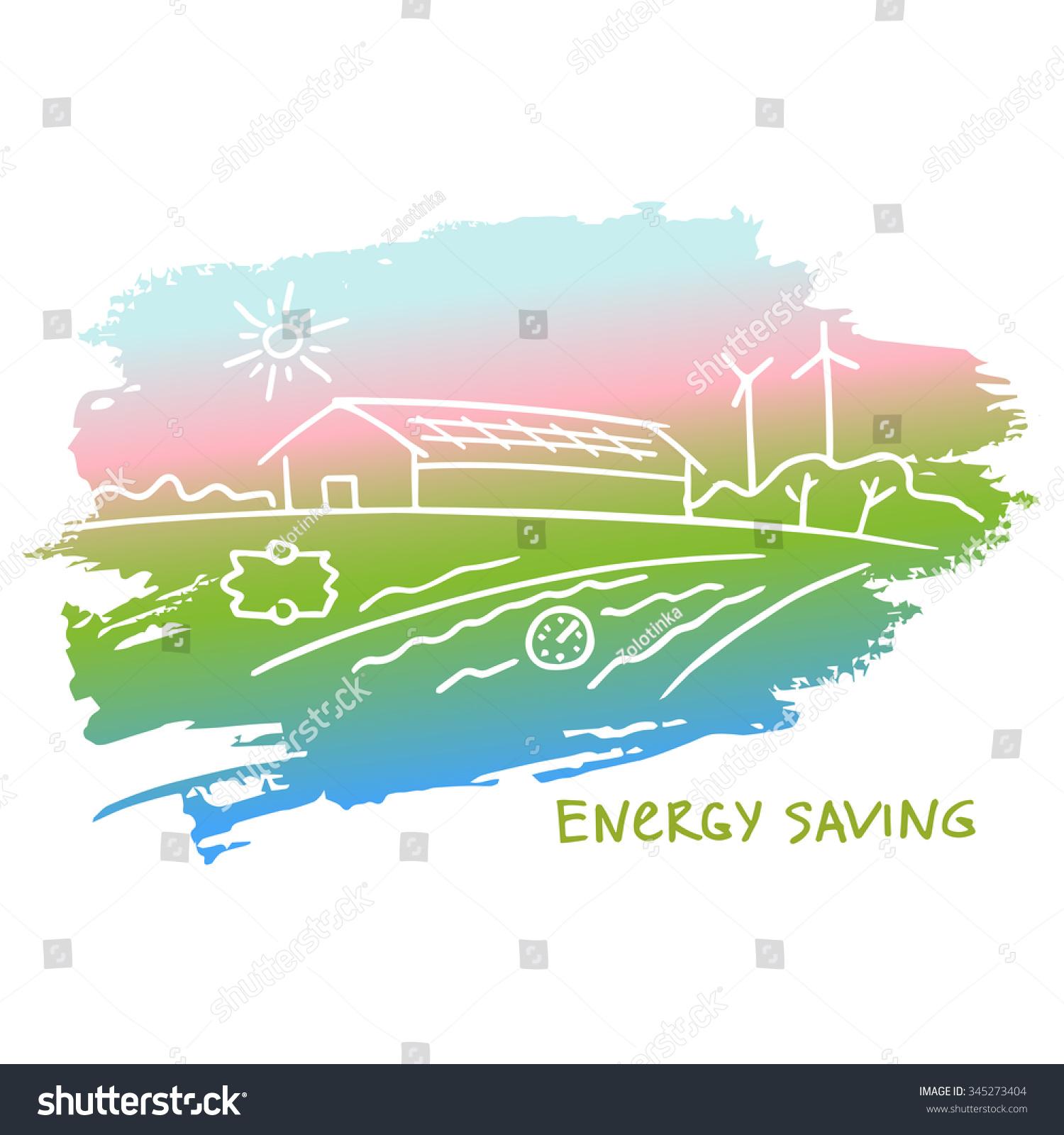 Eco Friendly Construction Illustration Energy Efficient Constructionenergy Saving Eco