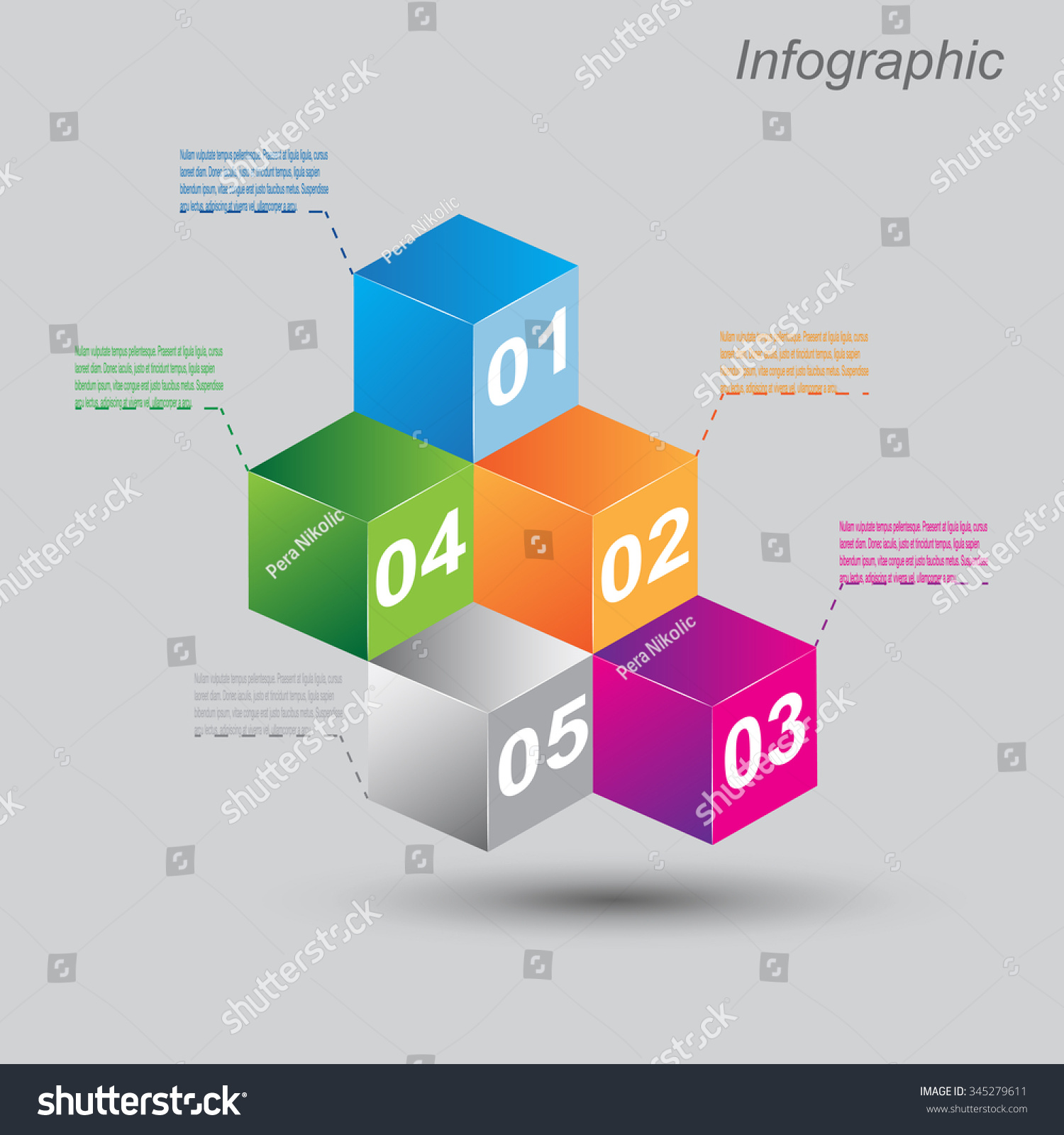 Infographic Design Templates Form 3d Box Stock Vector 345279611 ...