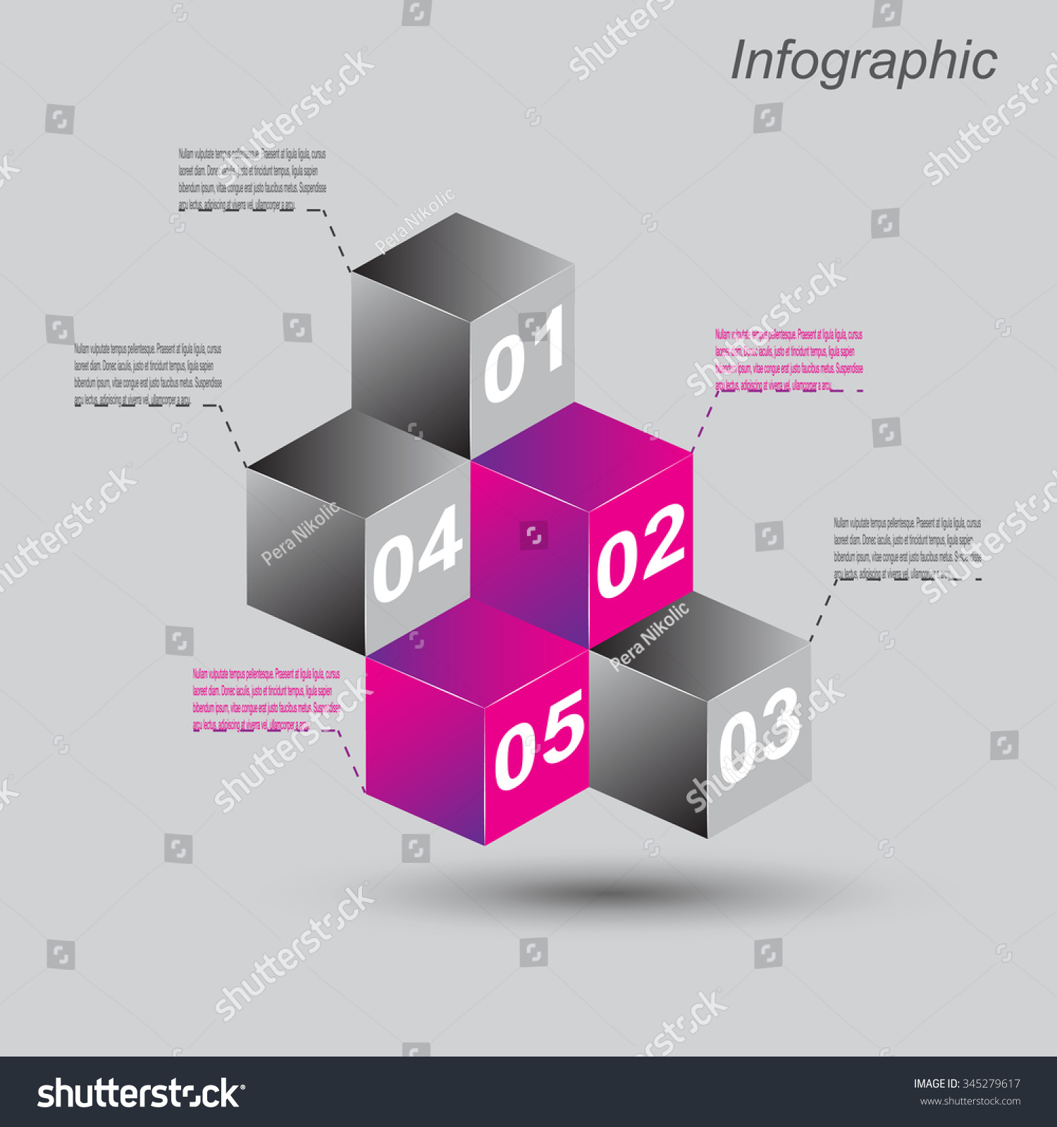Infographic Design Templates Form 3d Box Stock Vector 345279617 ...