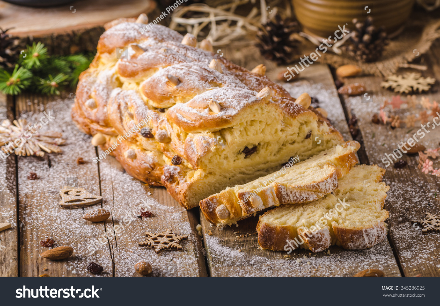 traditional czech christmas cake vanocka delicious breakfast for whole family full of nuts and