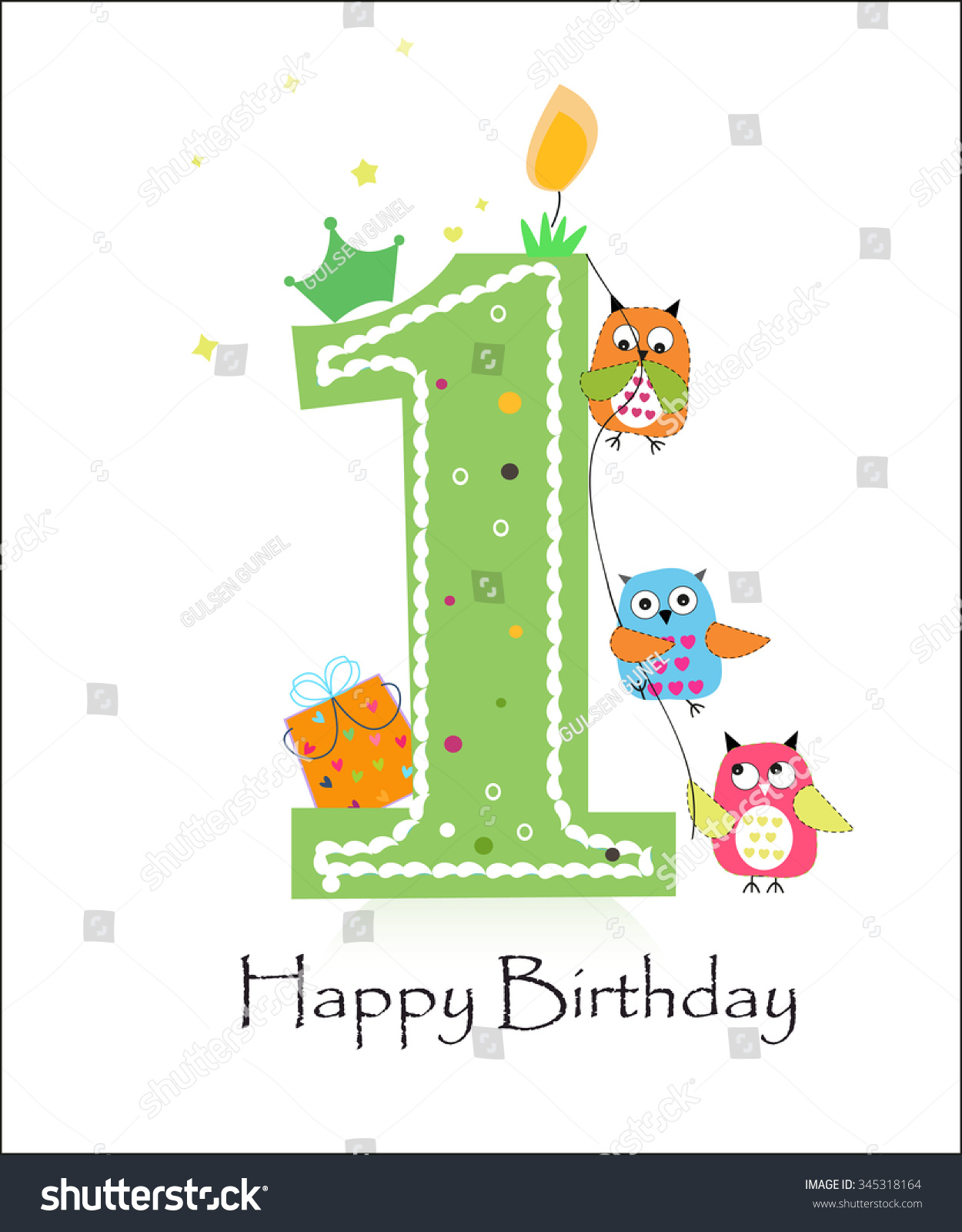 Happy first birthday owls baby boy stock photo photo vector happy first birthday with owls baby boy greeting card vector bookmarktalkfo Image collections
