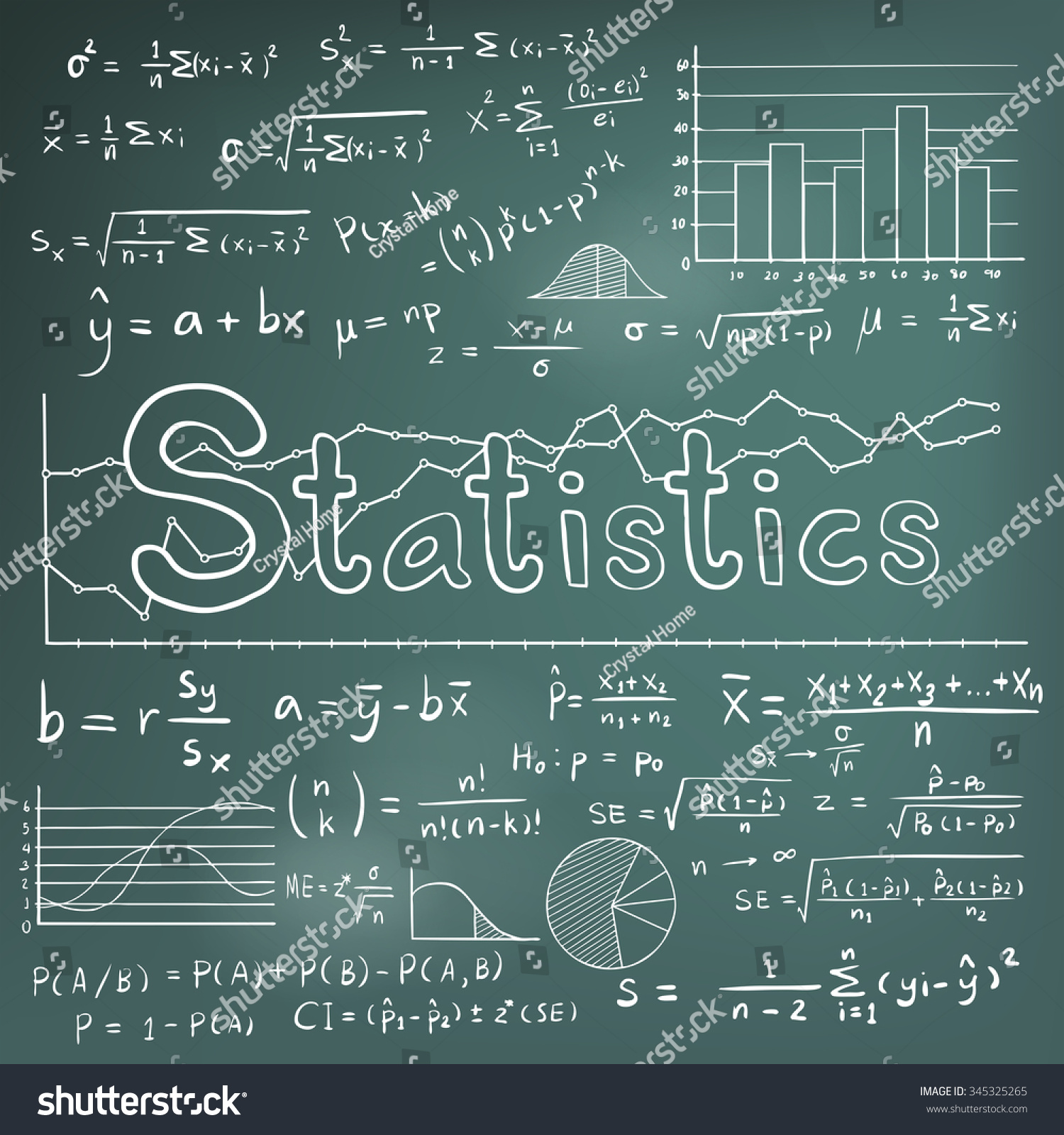 Statistic Math Law Theory Mathematical Formula Stock Vector ...