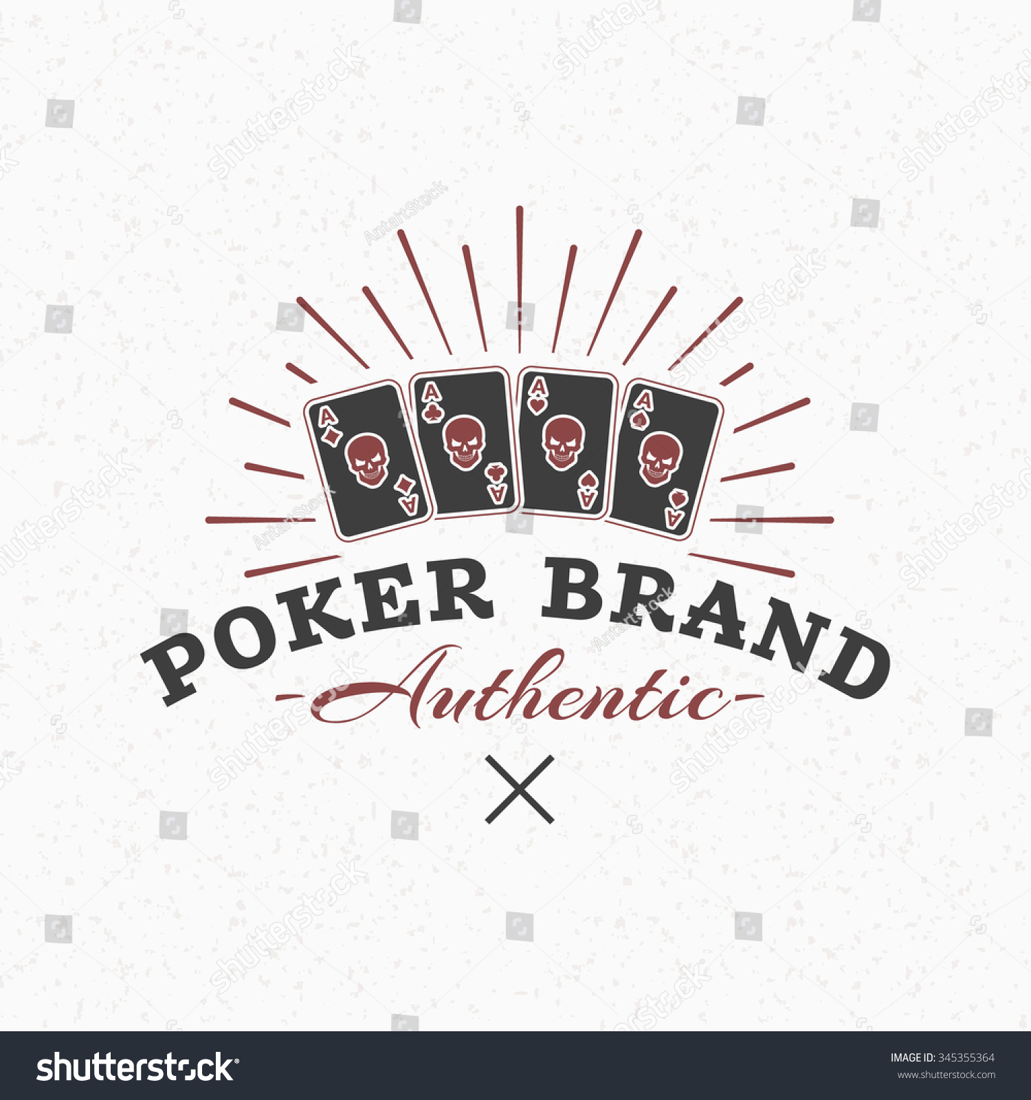 playing cards vintage retro design elements stock vector