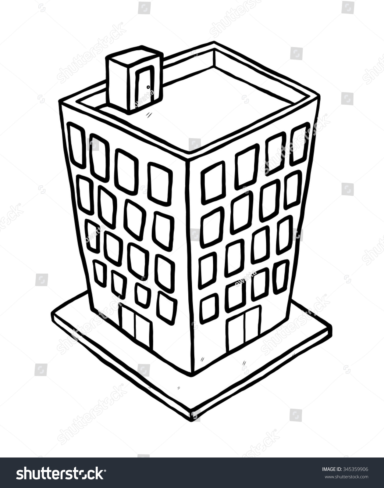 Building / Cartoon Vector And Illustration, Black And ...