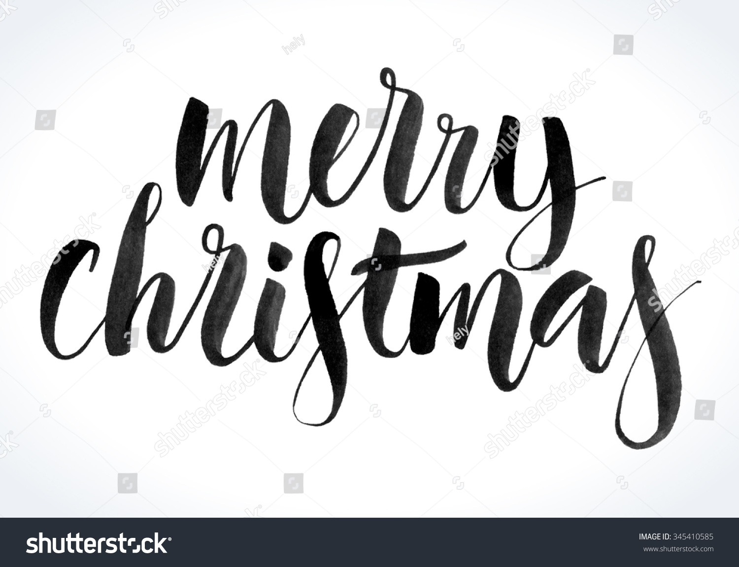 Merry christmas background modern calligraphy hand stock Images of calligraphy