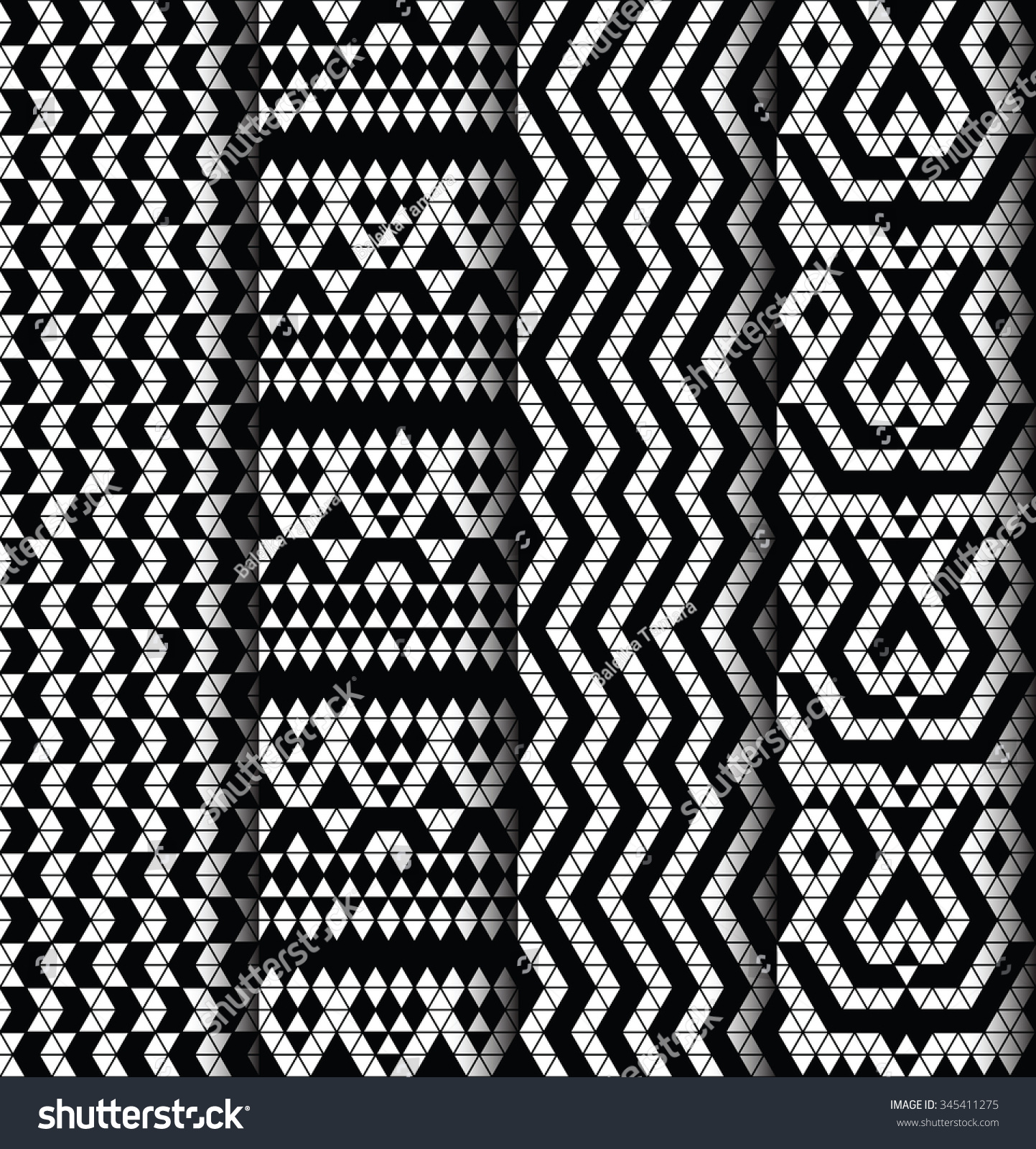 Tribal Monochrome Lace Patterns Trendy Modern Stock Vector 345411275 Shutterstock