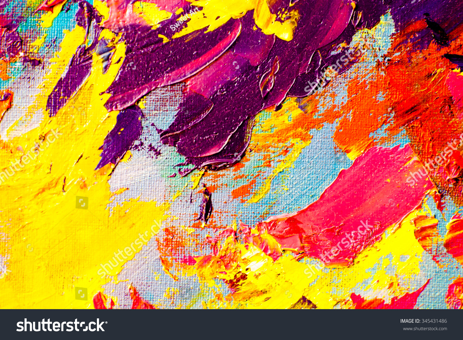 Abstract Art Background. Oil Painting On Canvas. Color Texture