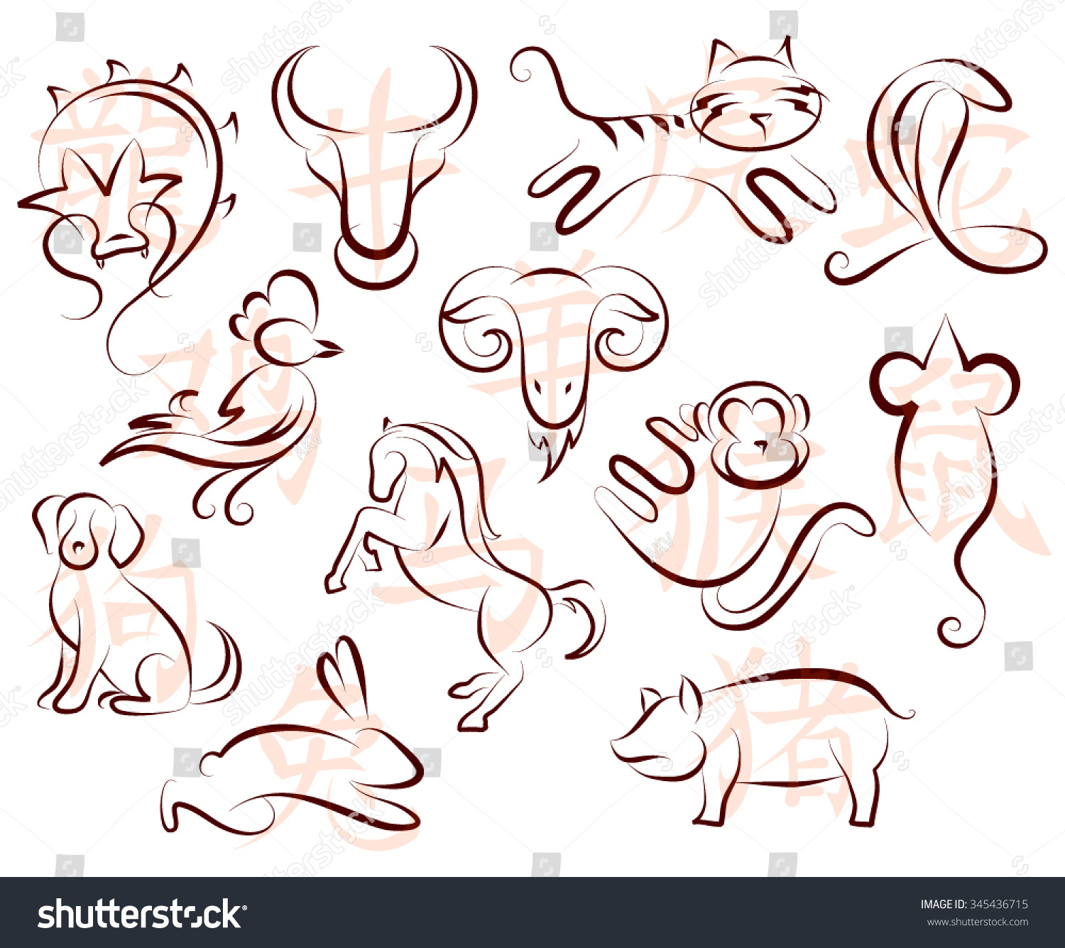 Zodiac Line Drawing : Horoscope symbol drawings gallery