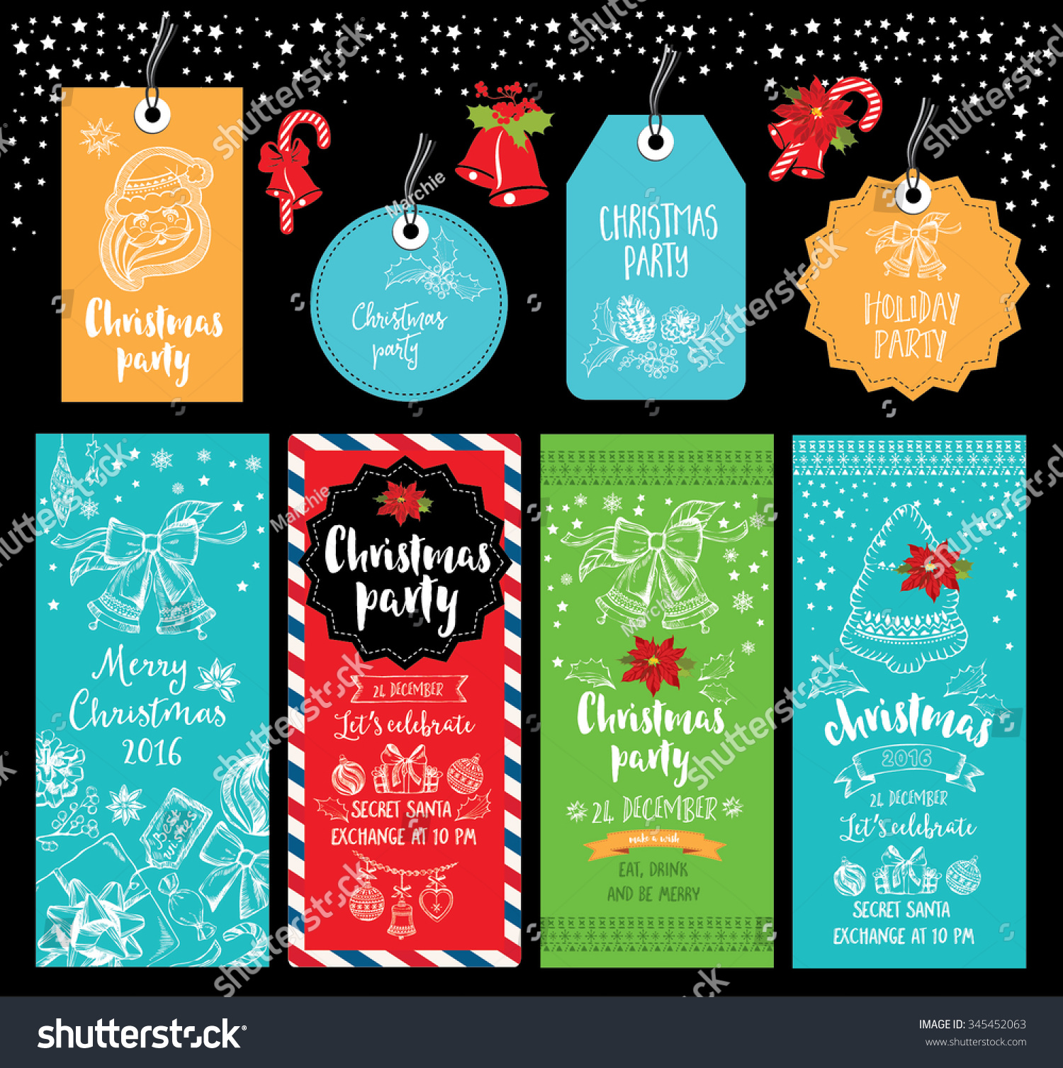 Vector christmas party invitation toys holiday stock vector vector christmas party invitation toys holiday stock vector 345452063 shutterstock stopboris Image collections
