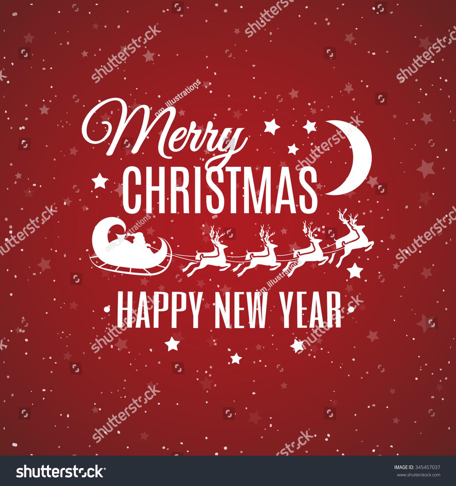 christmas card sign merry x mas happy stock vector (royalty free