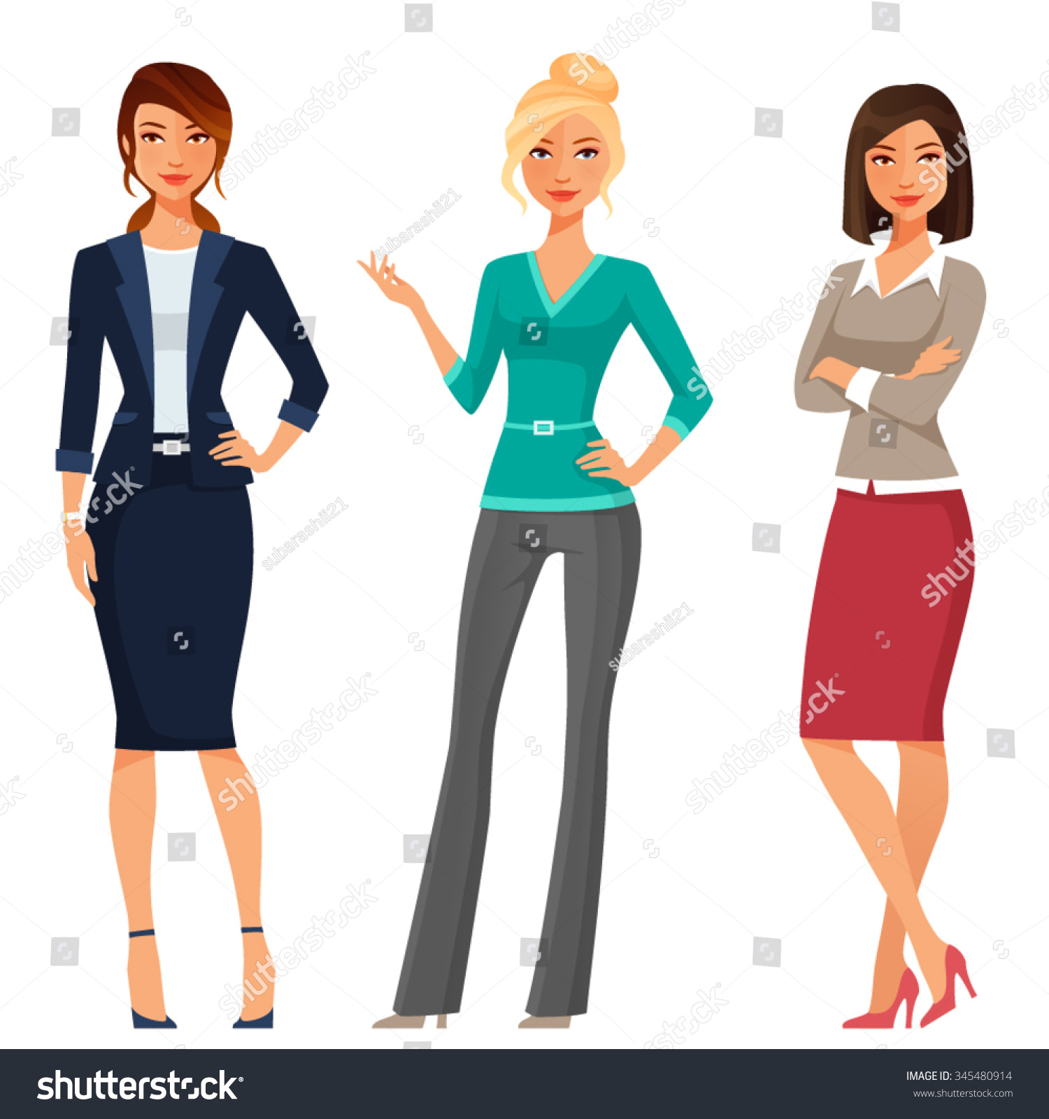 woman free in beautiful clothes office vector women royalty image