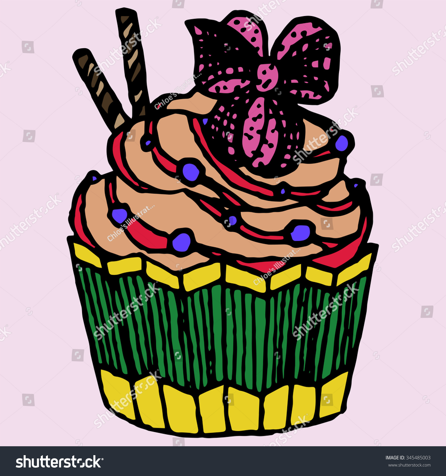 stock-photo-cute-colorful-cupcake-with-a