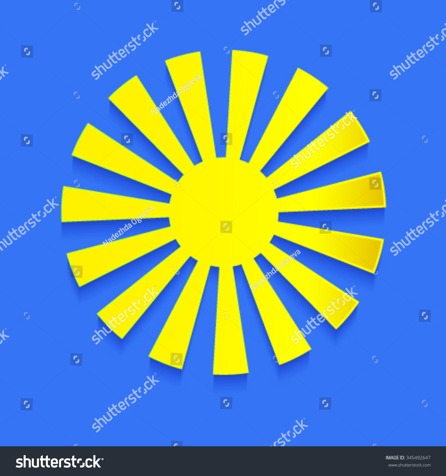 Sun cutout paper icons shadow on stock vector 345492647 shutterstock sun cutout paper icons with shadow on blue sky background vector meteo forecast weather symbols buycottarizona Choice Image