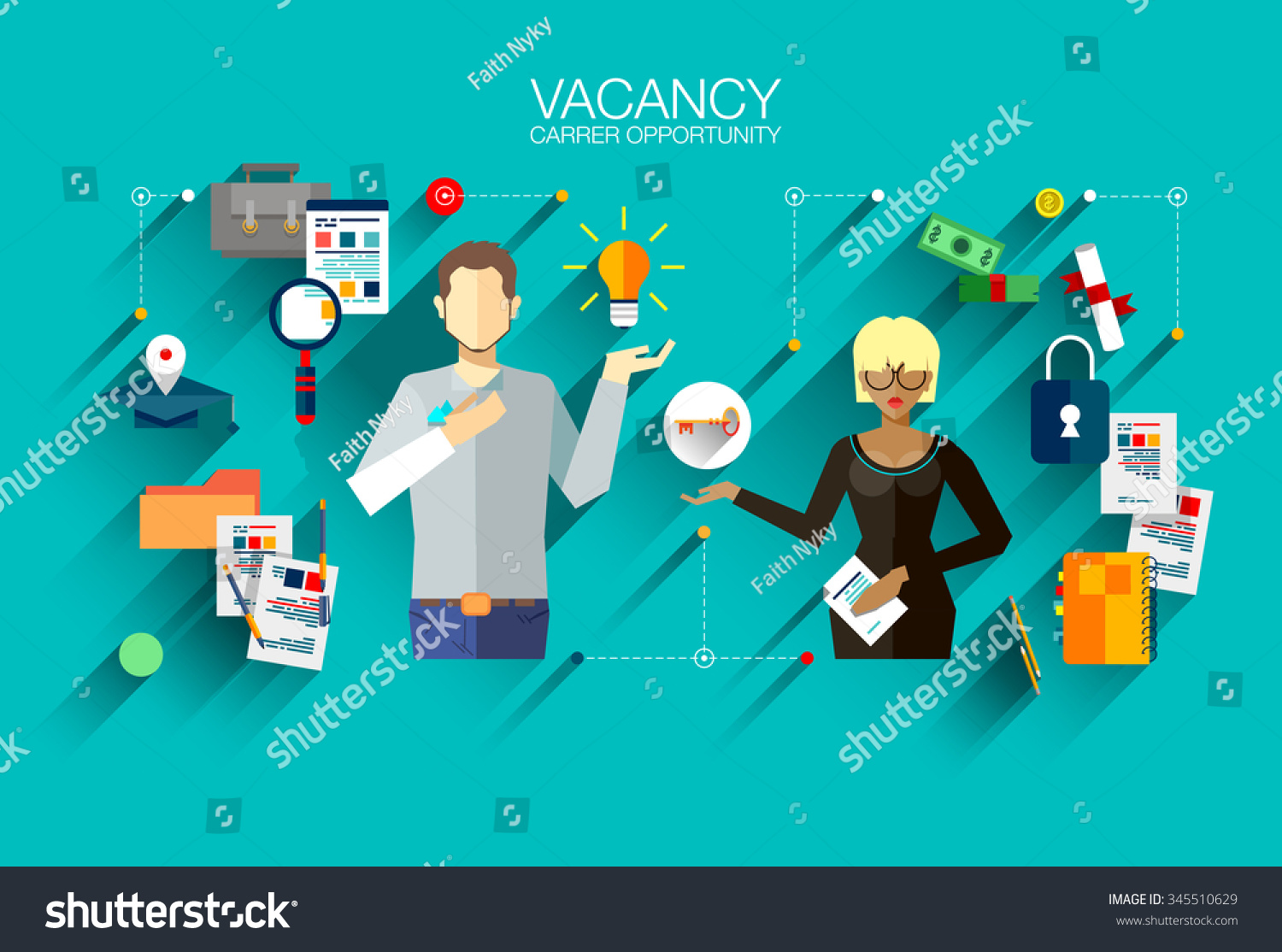 modern vector design recruiting employees job stock vector modern vector design recruiting employees job interview flat illustration concept for website or infographics