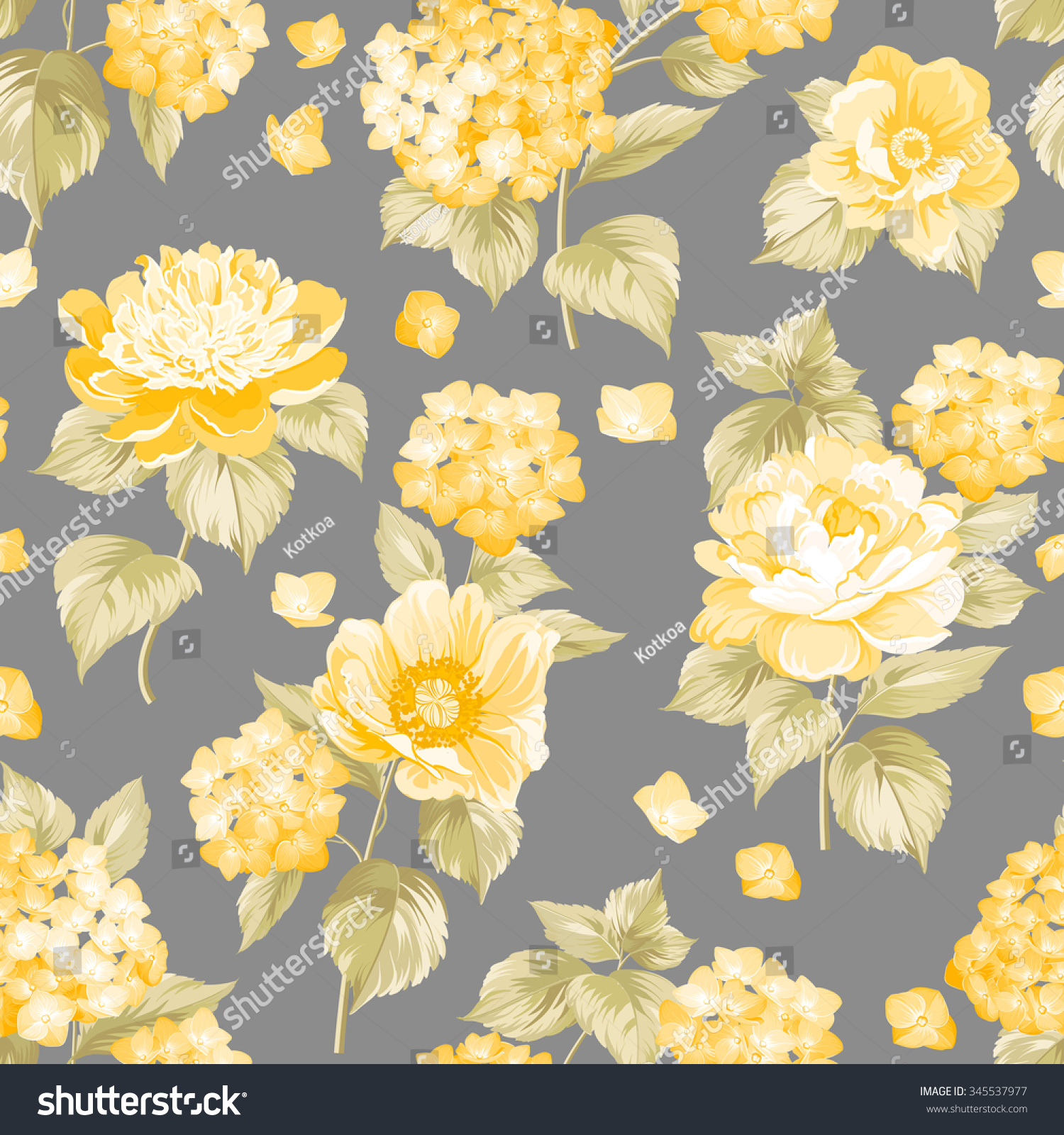 Fabric Flower Pattern Magnificent Decorating