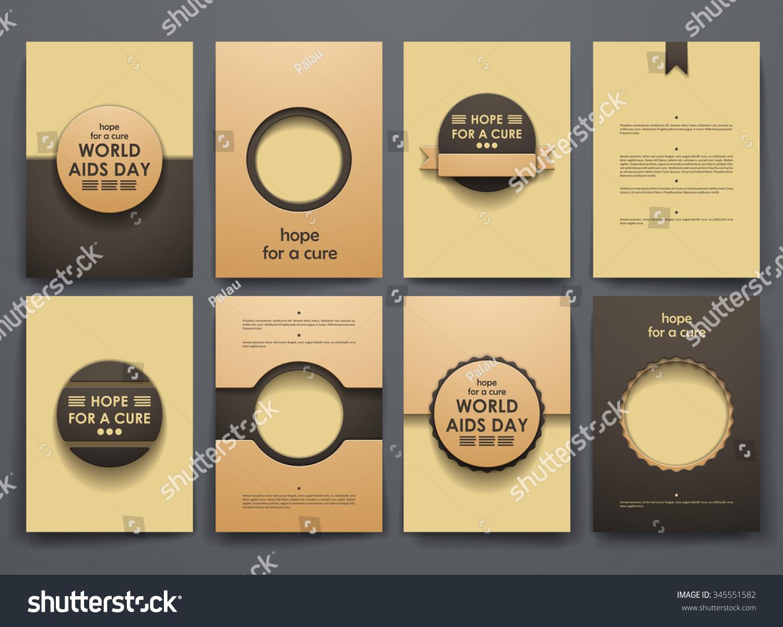 set brochure poster templates world aids stock vector 345551582 shutterstock