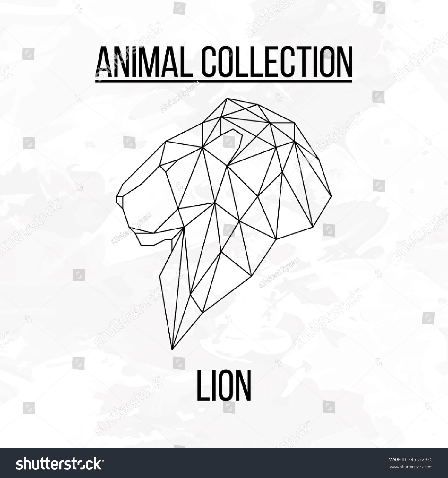 Lion Head Geometric Lines Side View Stock Vector 345572930 ...