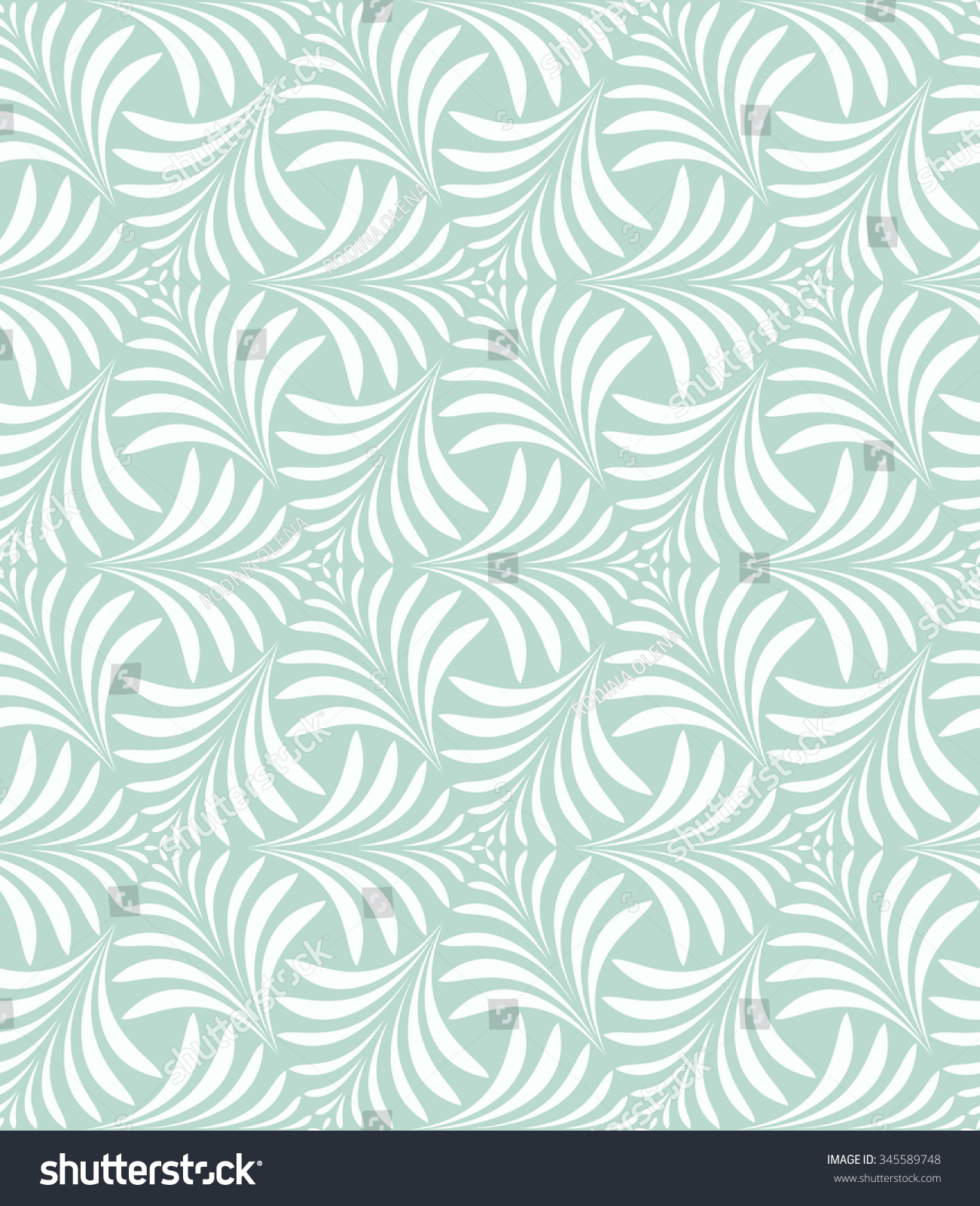 Green and white floral pattern - photo#22